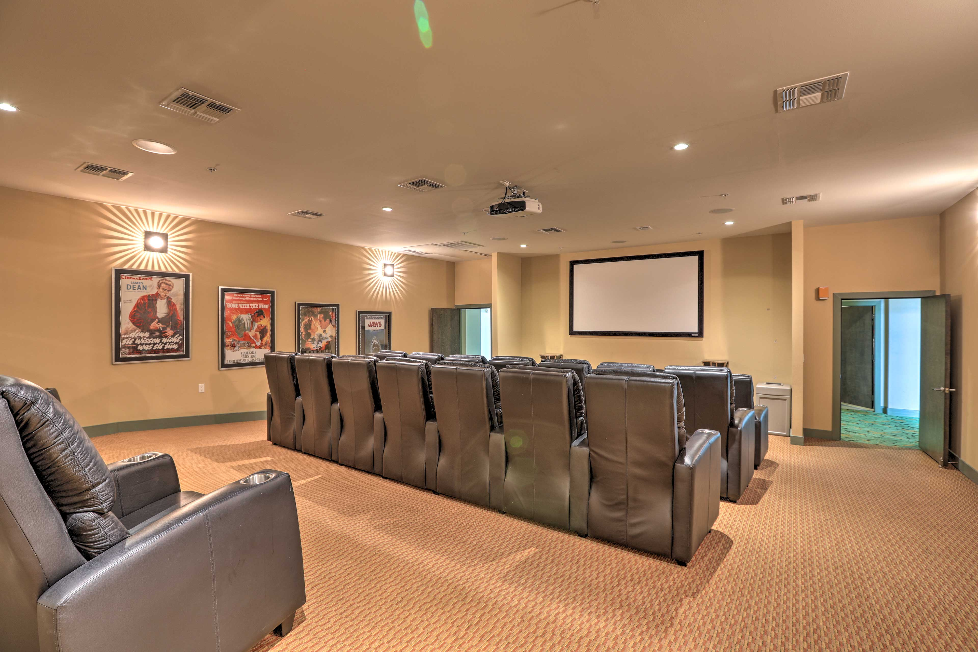 Watch movies in the community theater with your crew of up to 6 beachgoers!