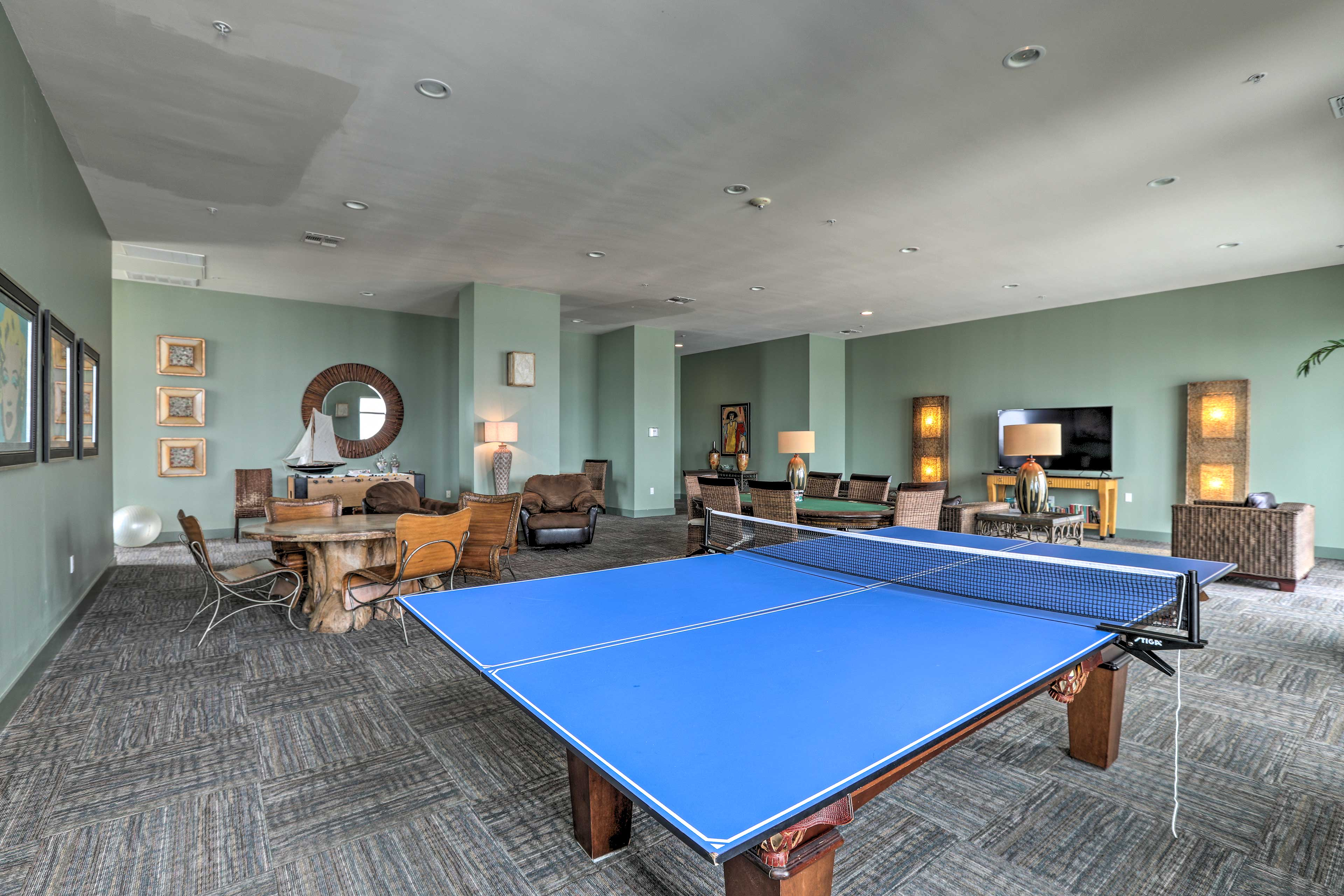 You'll love spending time in this recreation room!