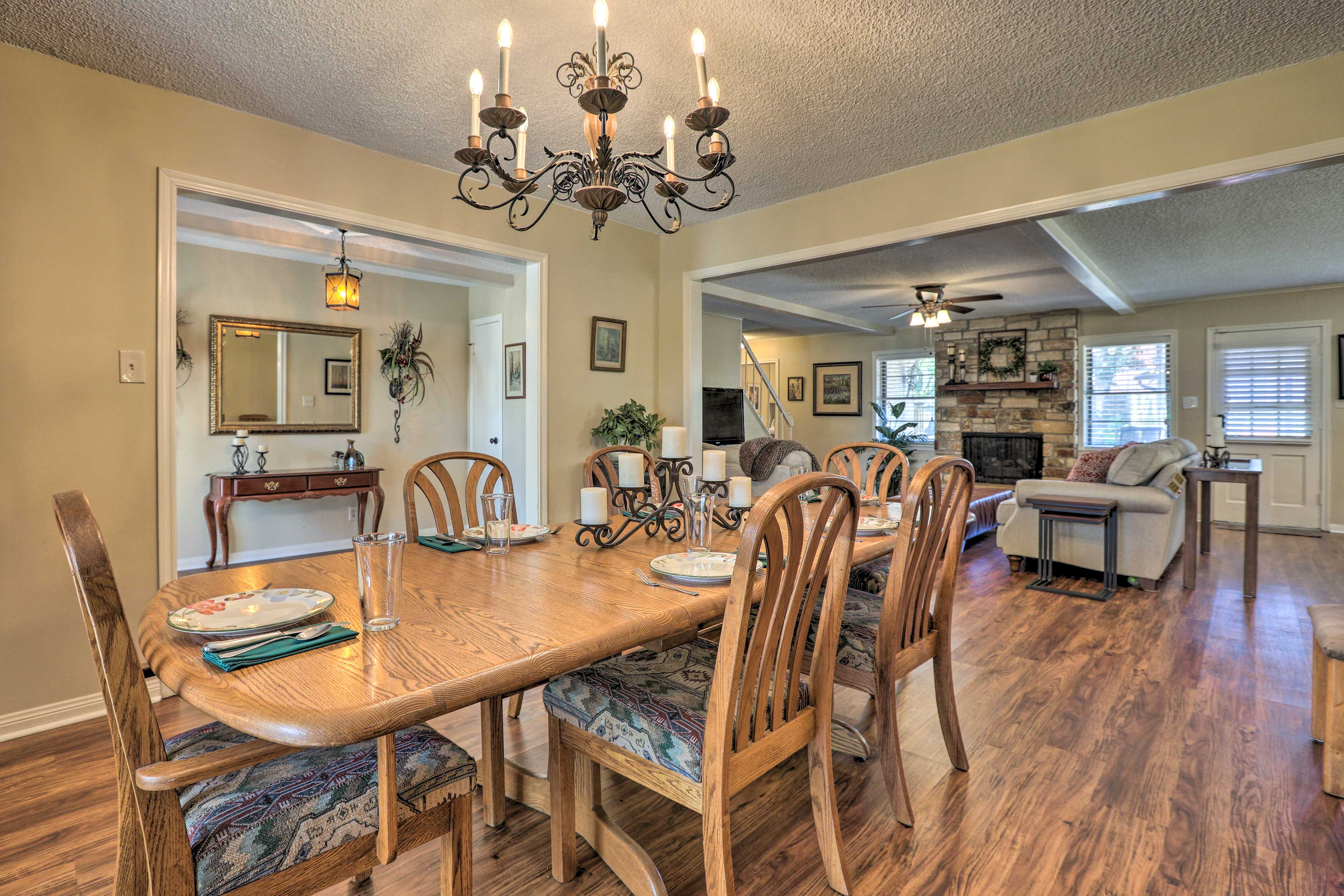The vacation rental home has everything you need for a fun family getaway.