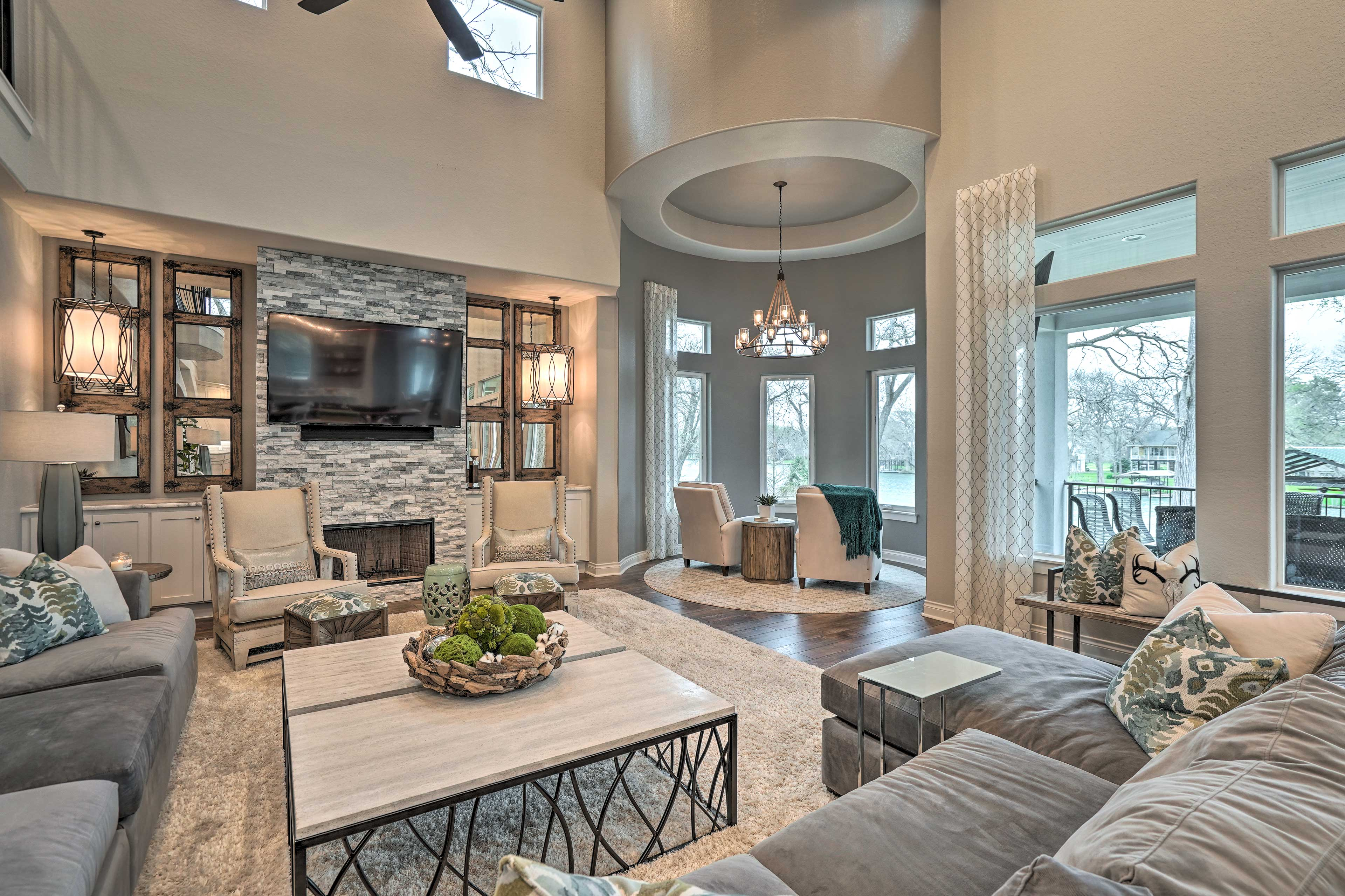 The home boasts 5,500 square feet of tasteful living space.