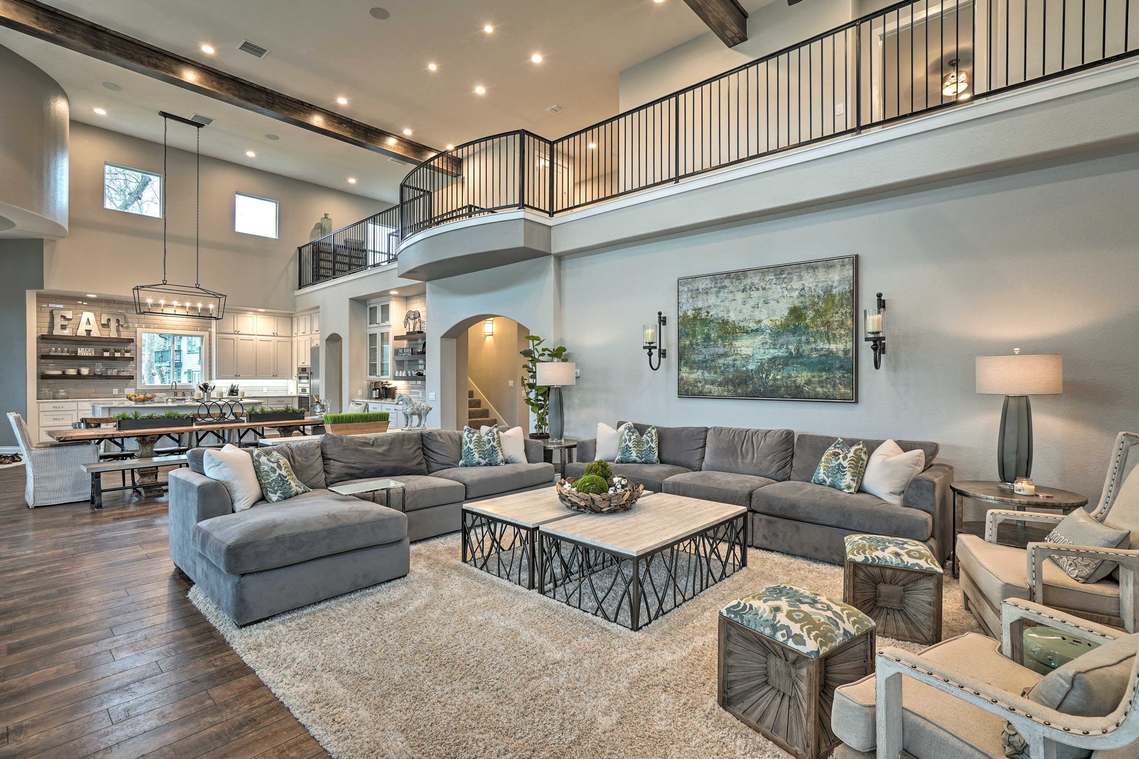 Live in luxury when you stay at this vacation rental house in Seguin, Texas.