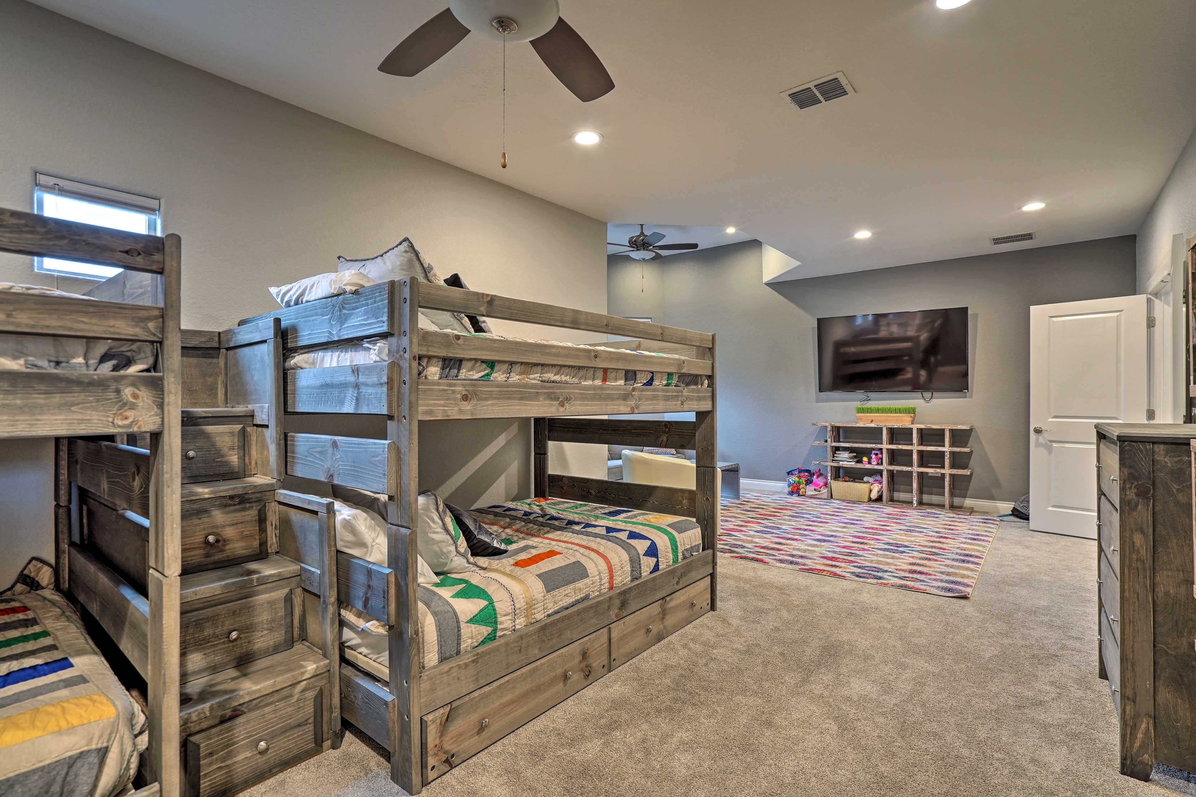With multiple bunk beds, there's plenty of sleeping space.