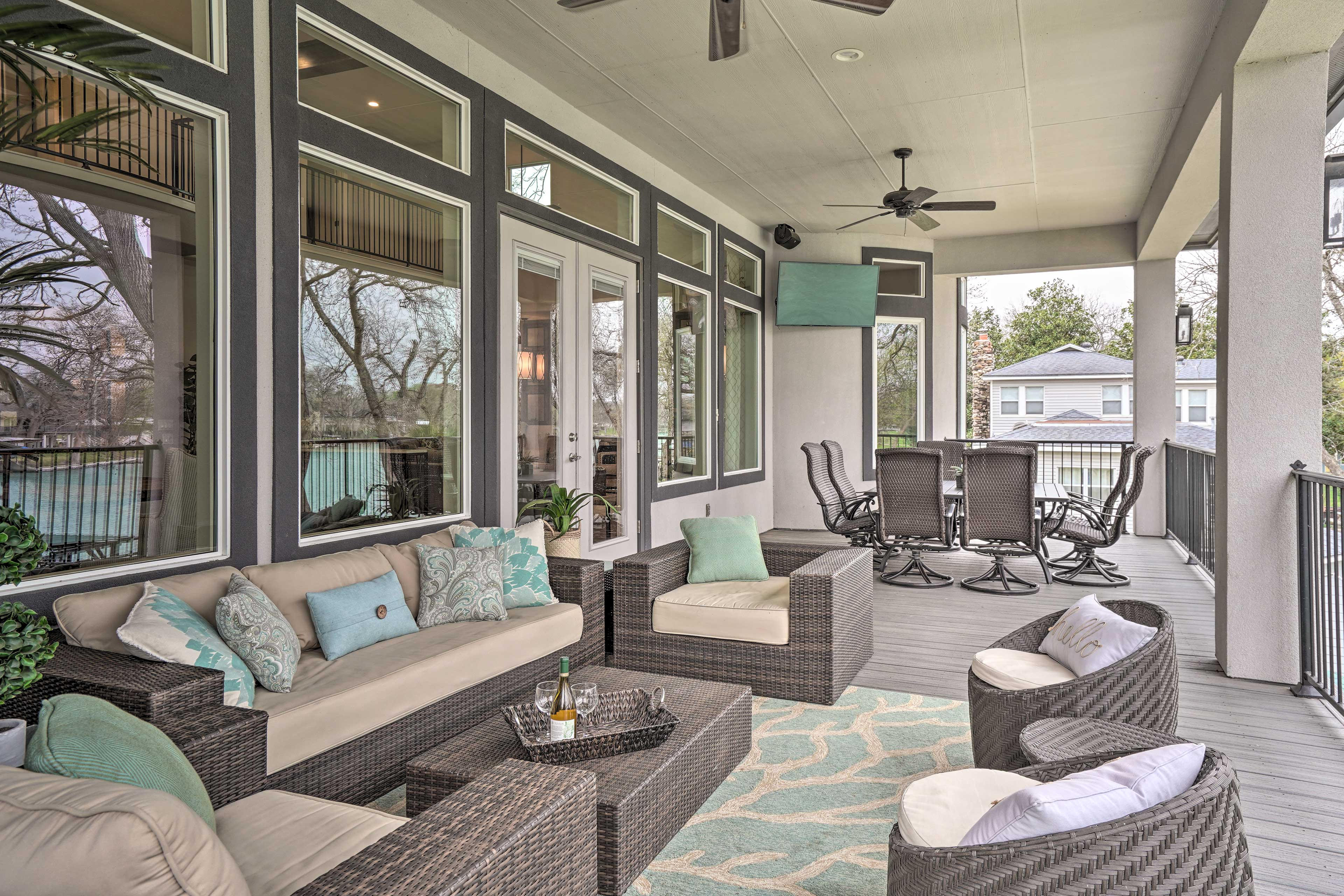 Bring snacks outside to the deck and revel in the fresh air.