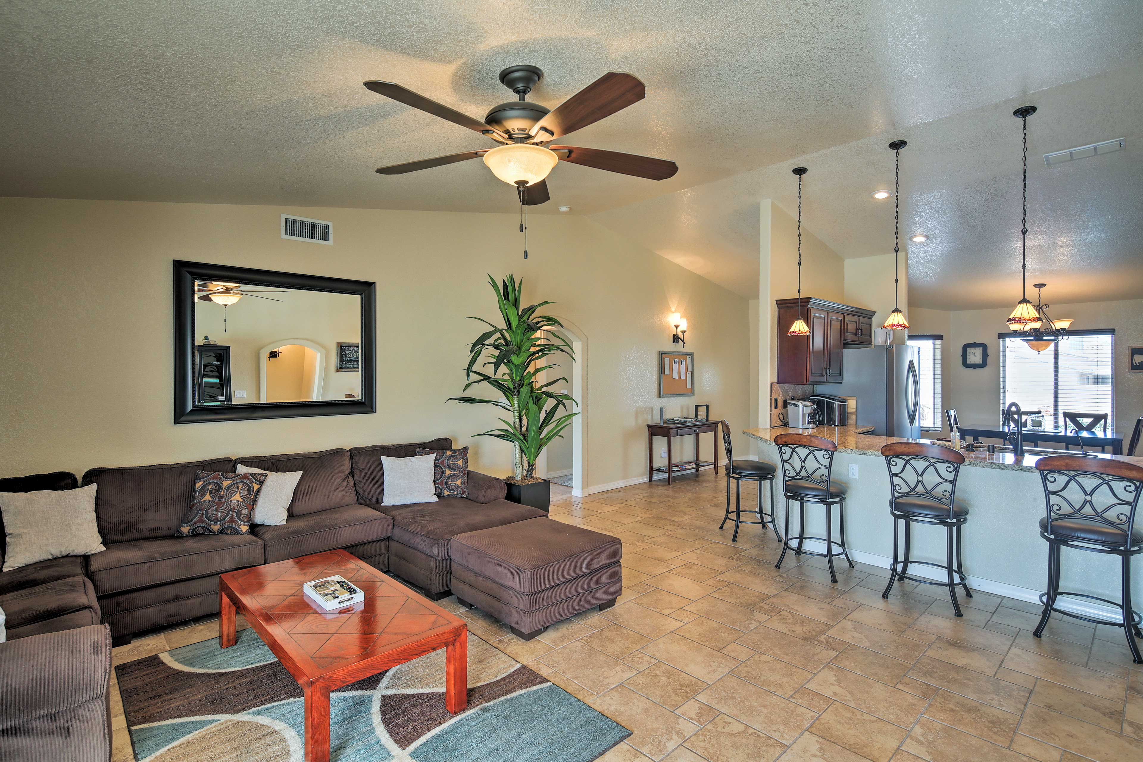 This recently renovated home is just minutes from major area attractions.