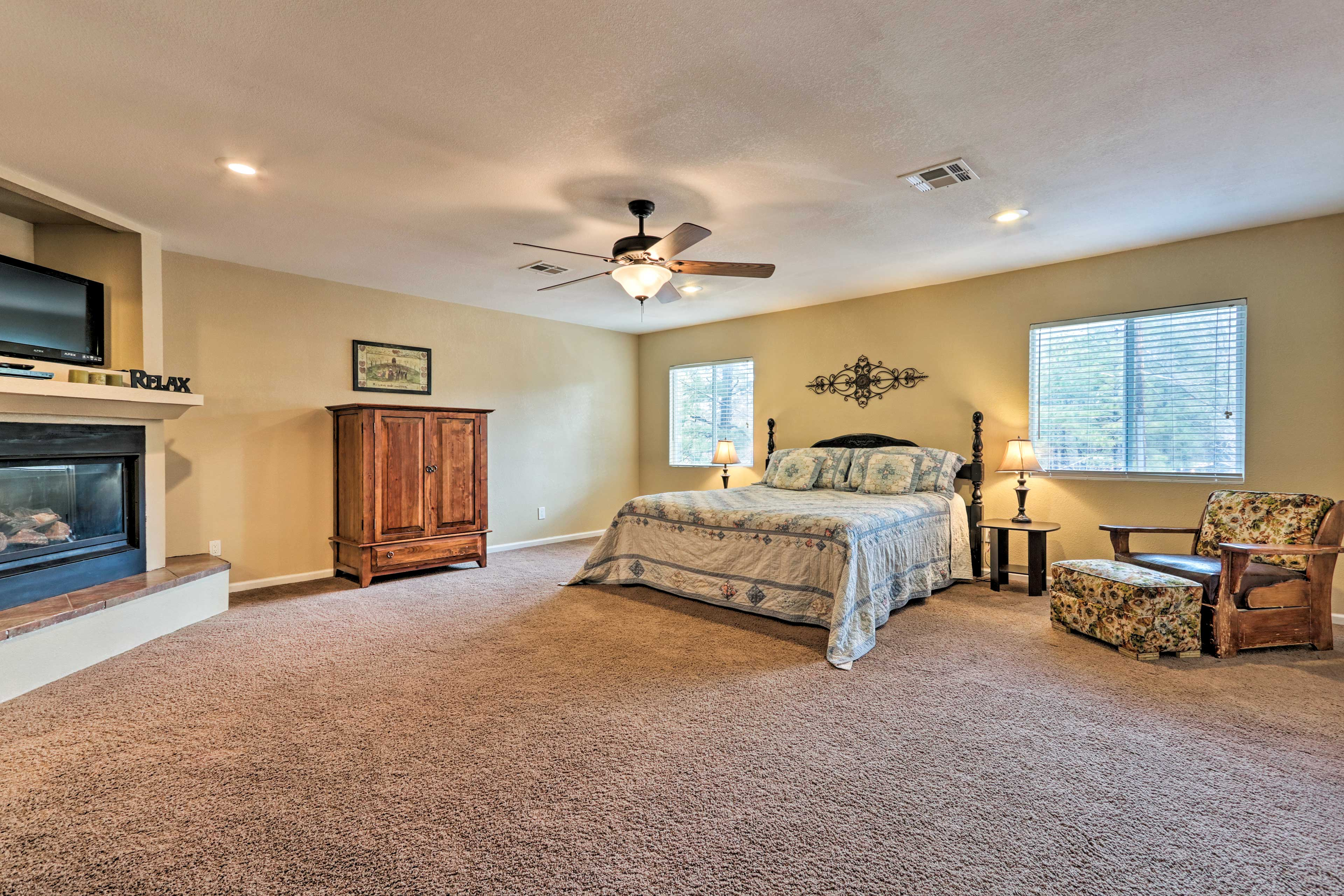 Spaciousness defines the master suite!