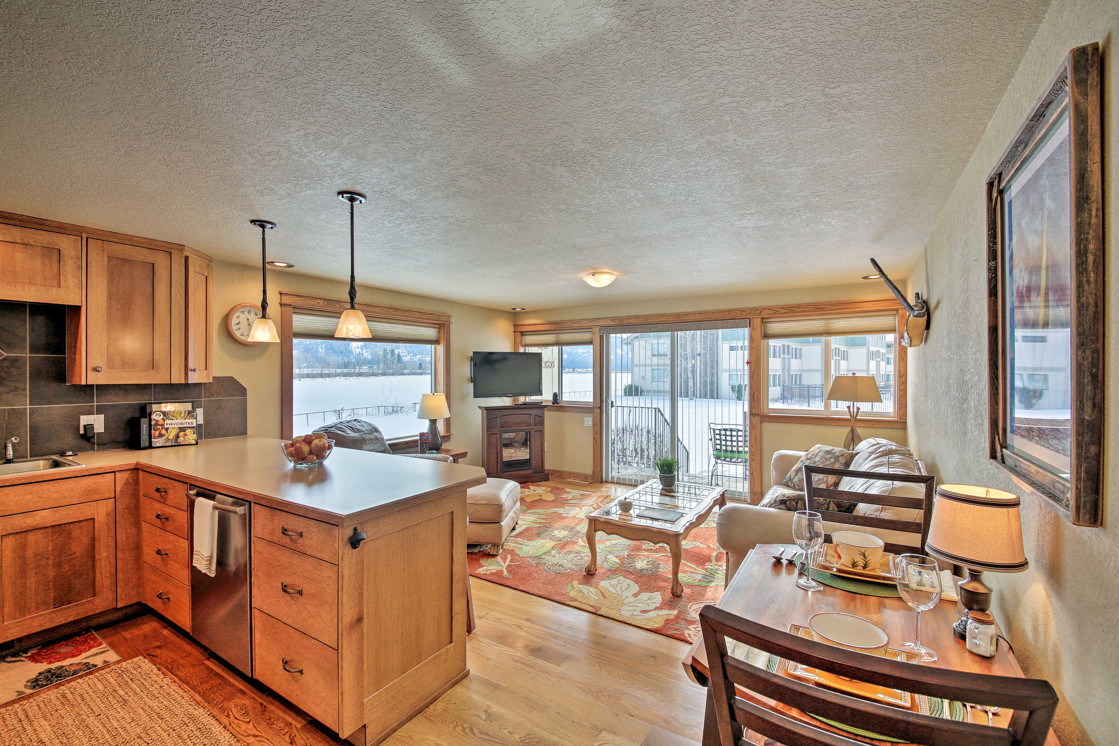 Enjoy the open layout and bright interior from natural sunlight.