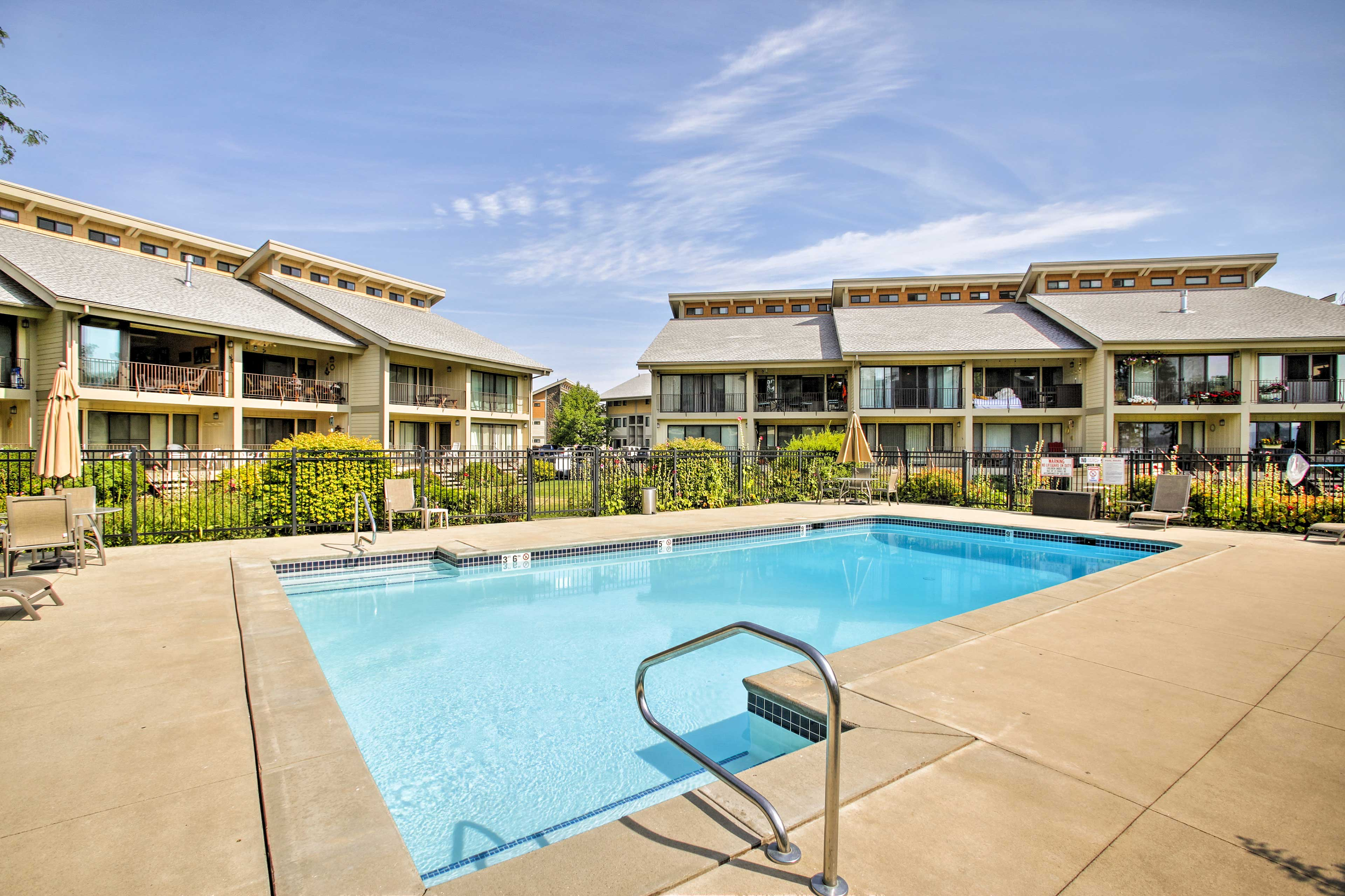 During summer, take advantage of the community amenities like 2 outdoor pools.