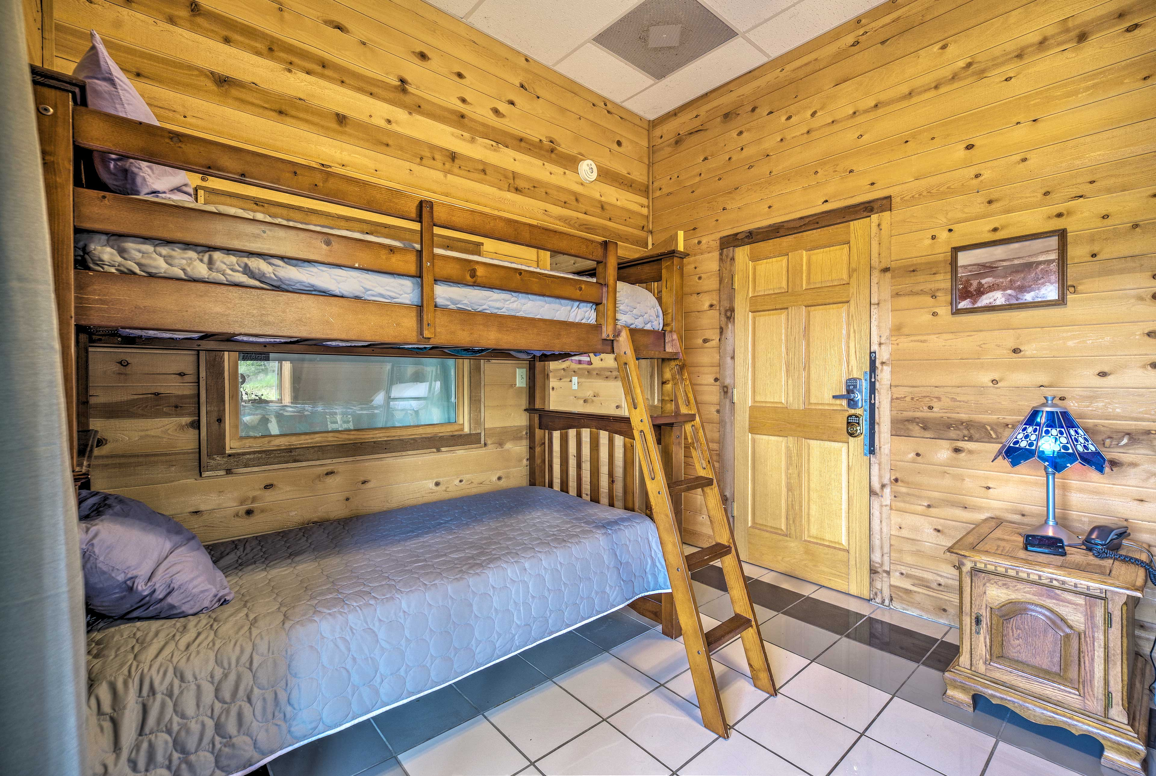 Kids will love sharing the bunk bed!