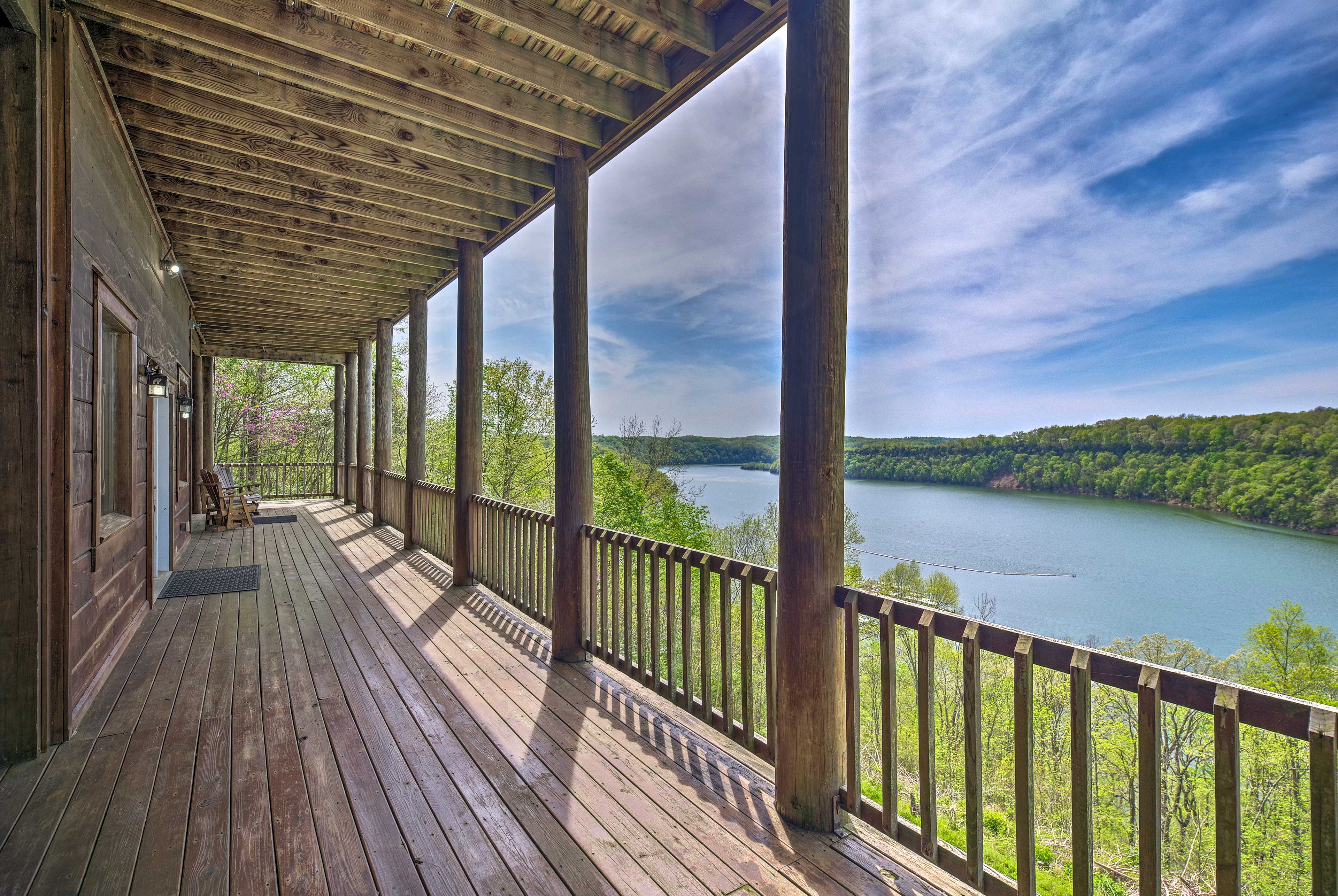 Step outside for fresh air and water views.