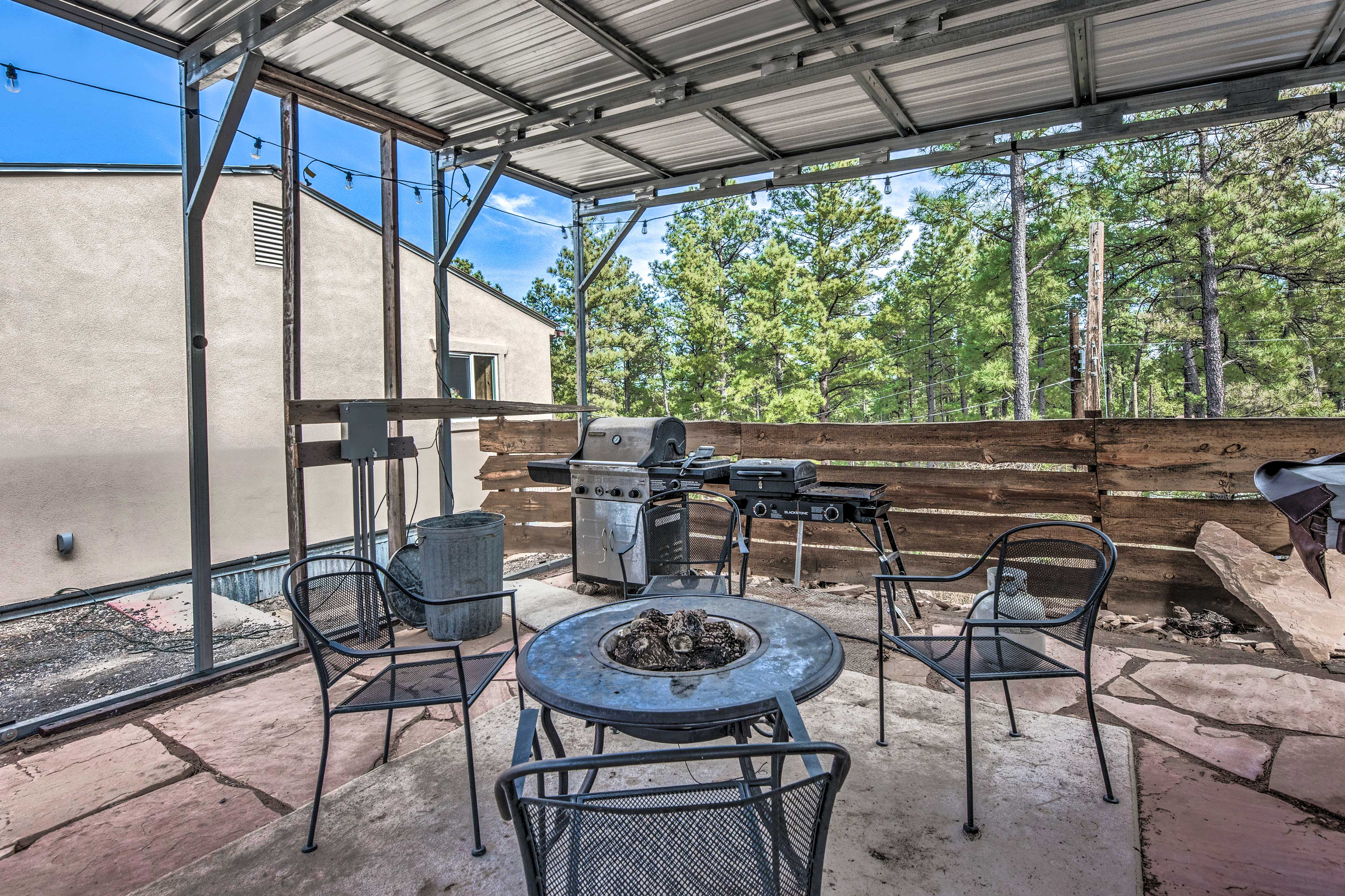 Covered Patio | Fire Pit