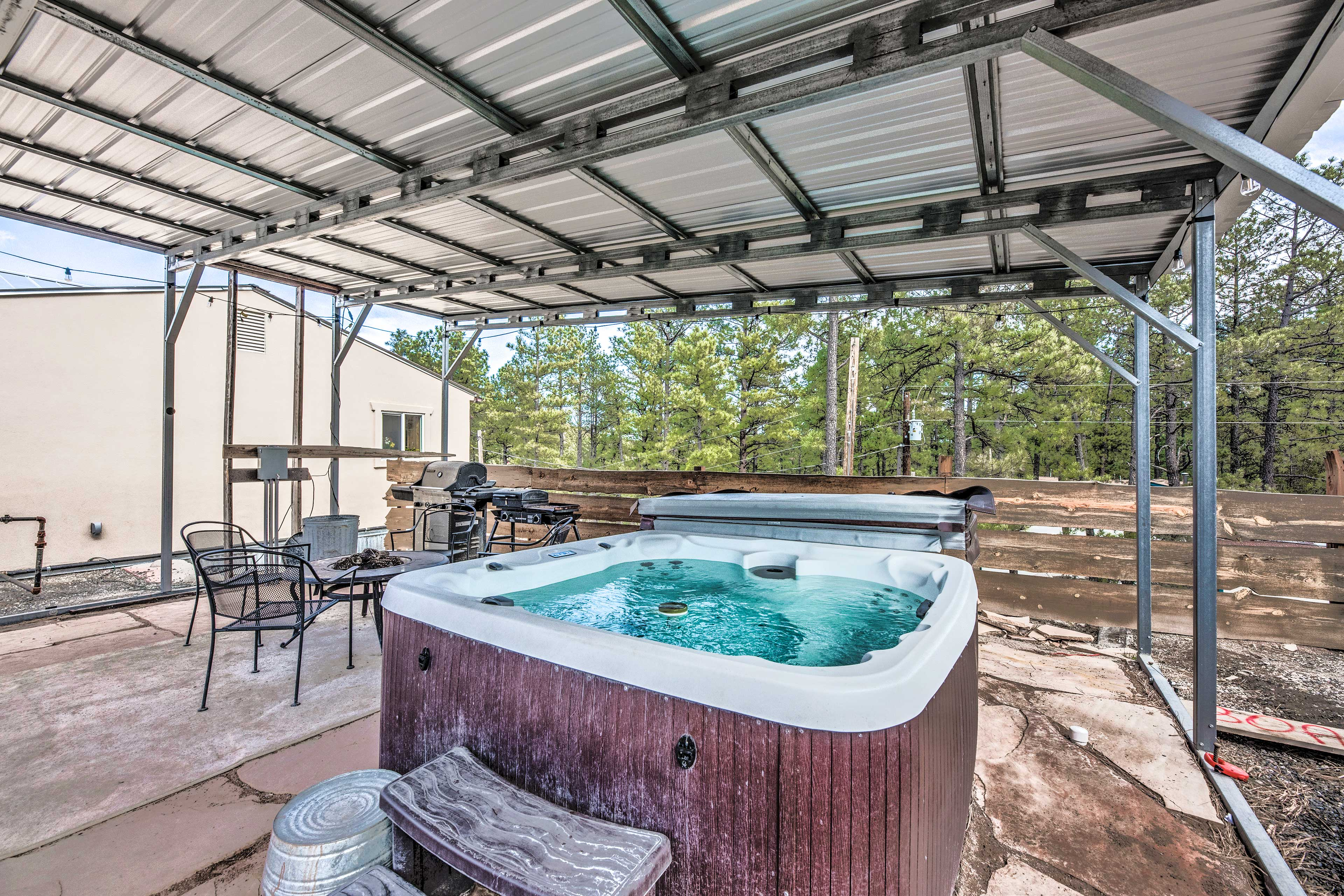 Covered Patio | Private Hot Tub
