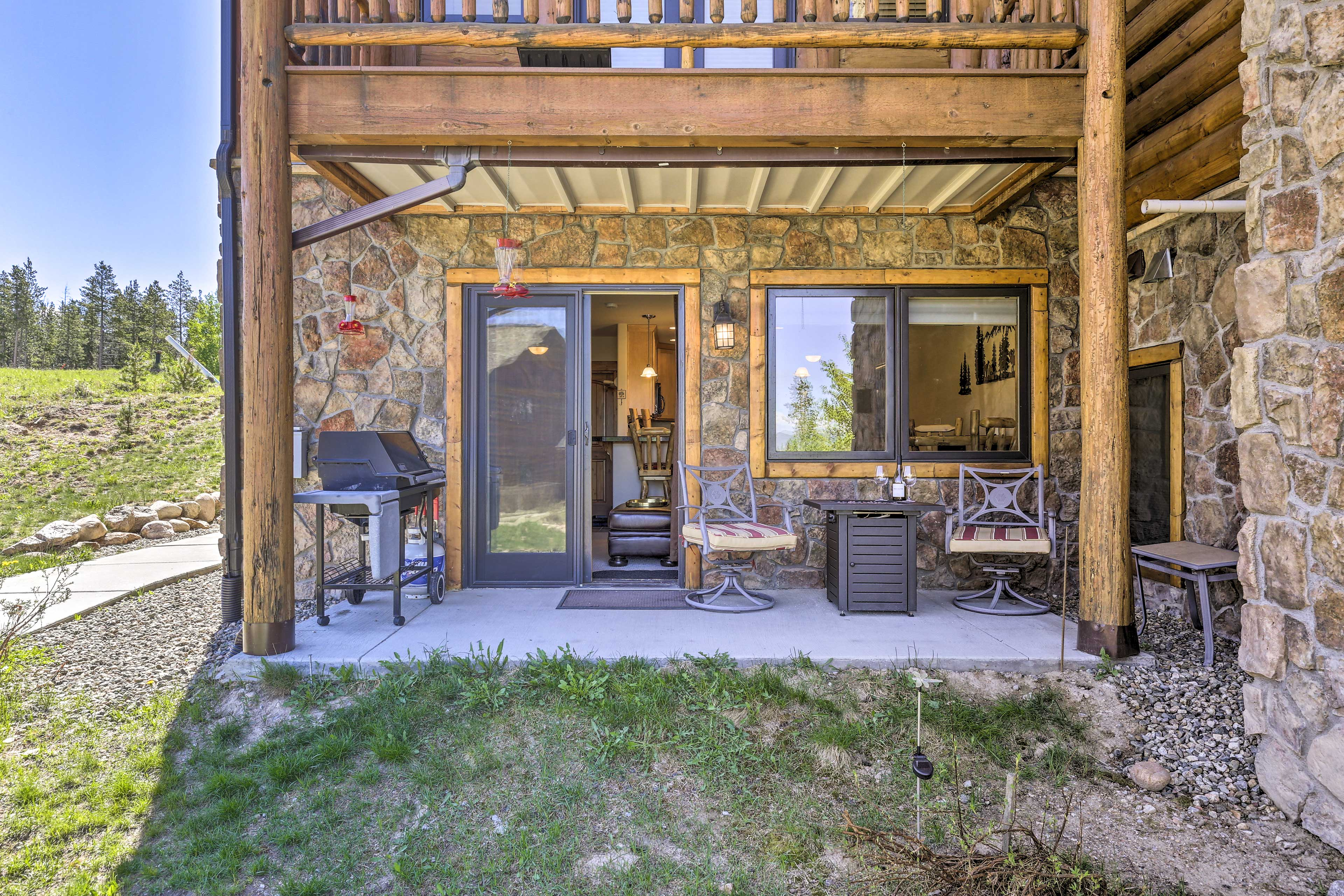 This vacation rental condo is located in the Summit Trail Lodges.