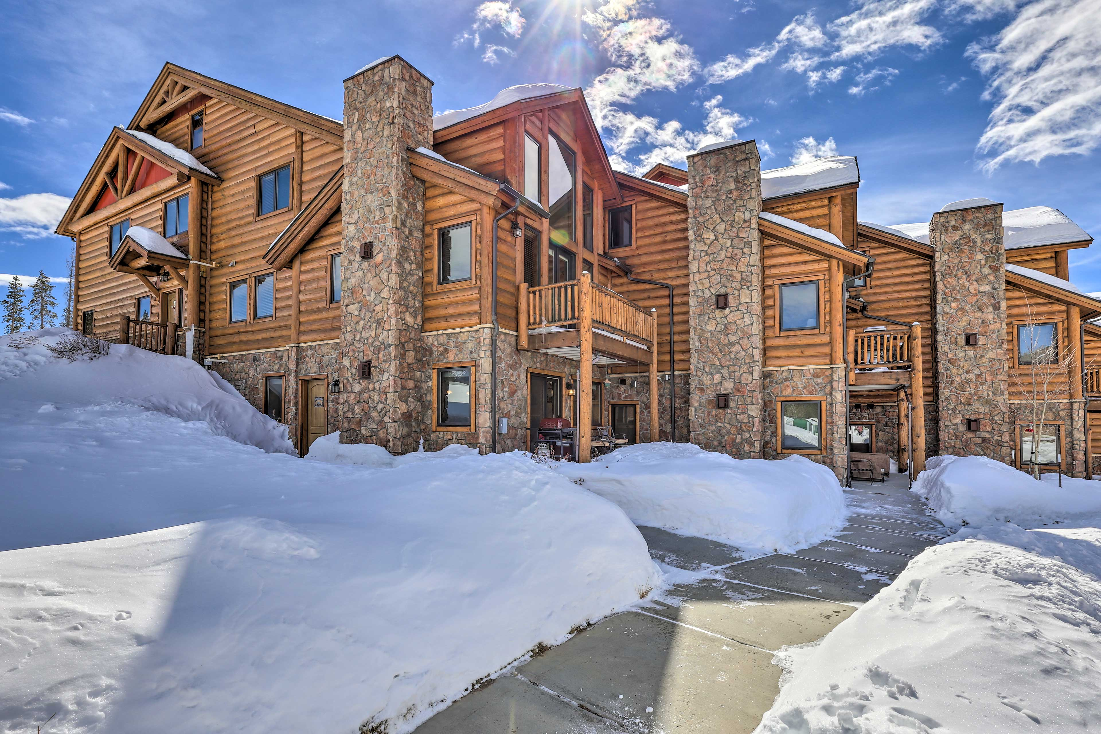 This property transforms into a winter wonderland!