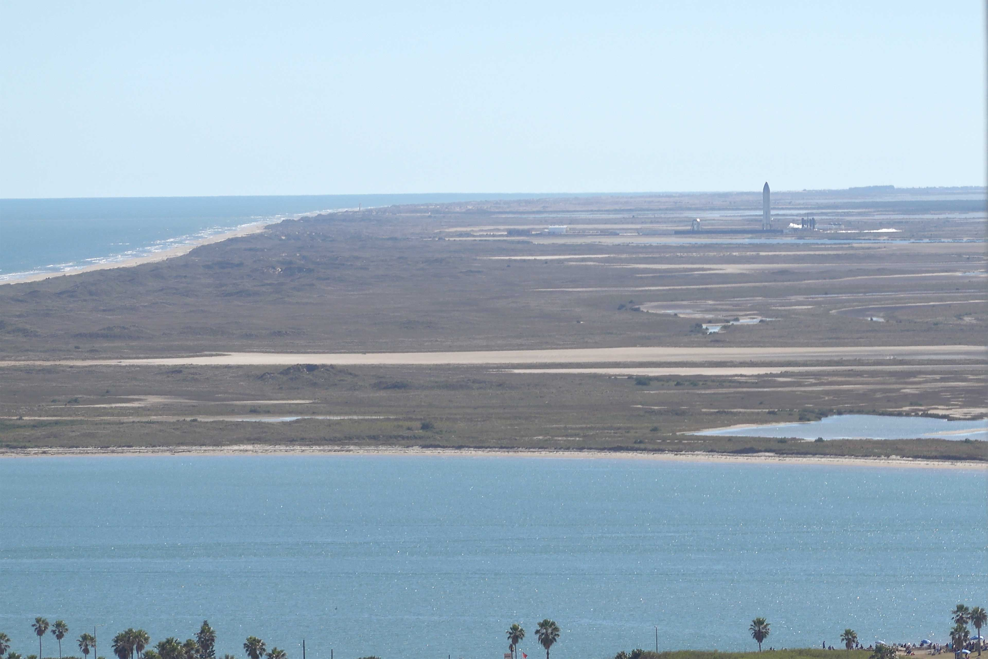 The SpaceX launch pad is only 6 miles away.
