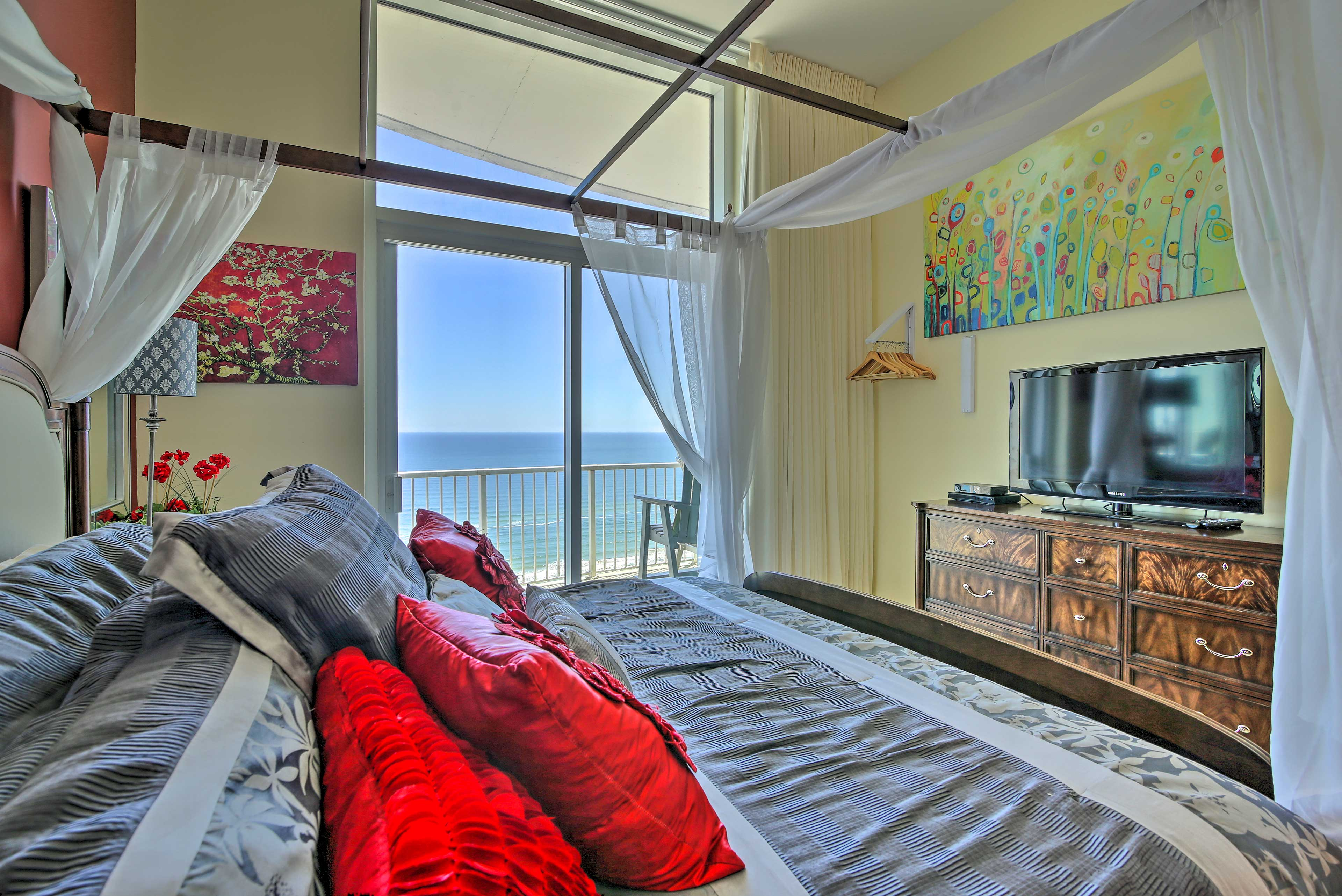 Enjoy the view from your bed each morning to feel ready for a new day.