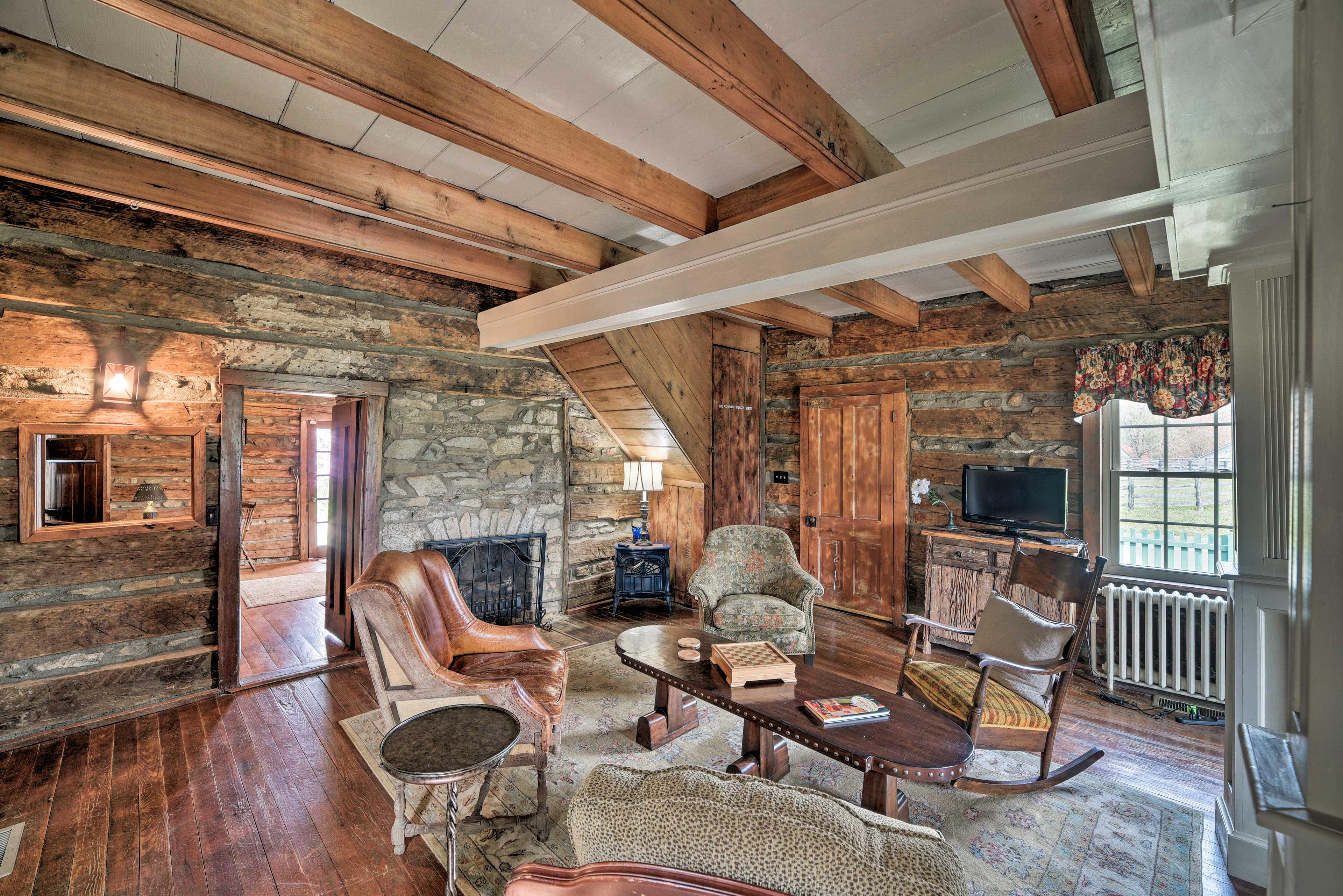 Original Portion of Home | Decorative Fireplace