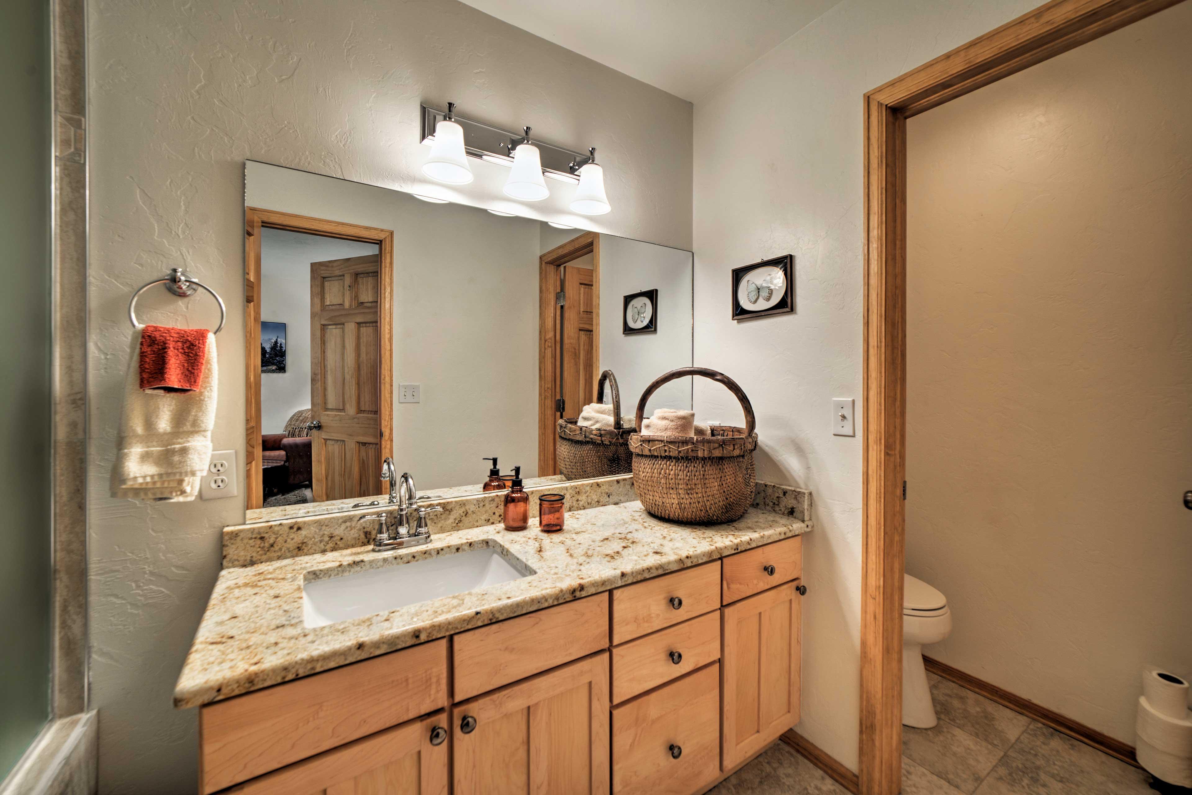 The en-suite bathroom adds extra privacy.