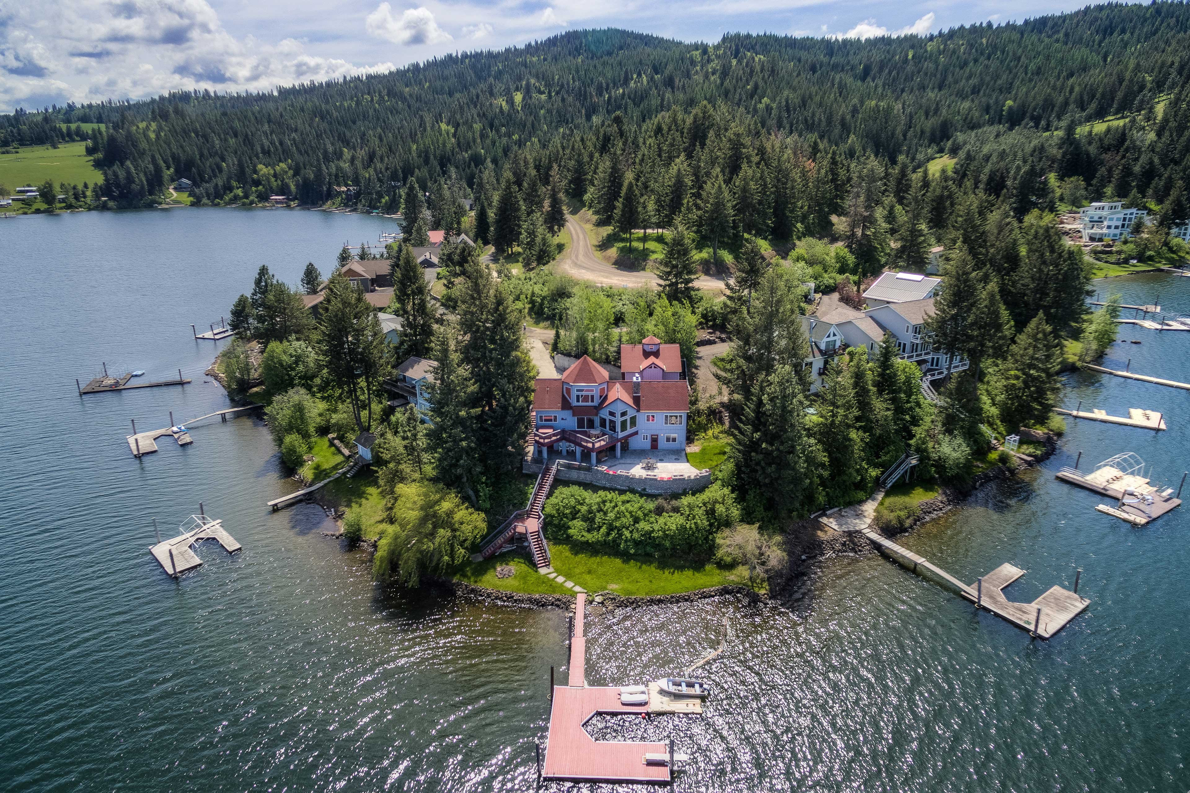 Fall in love with lakefront living at this incredible vacation home!