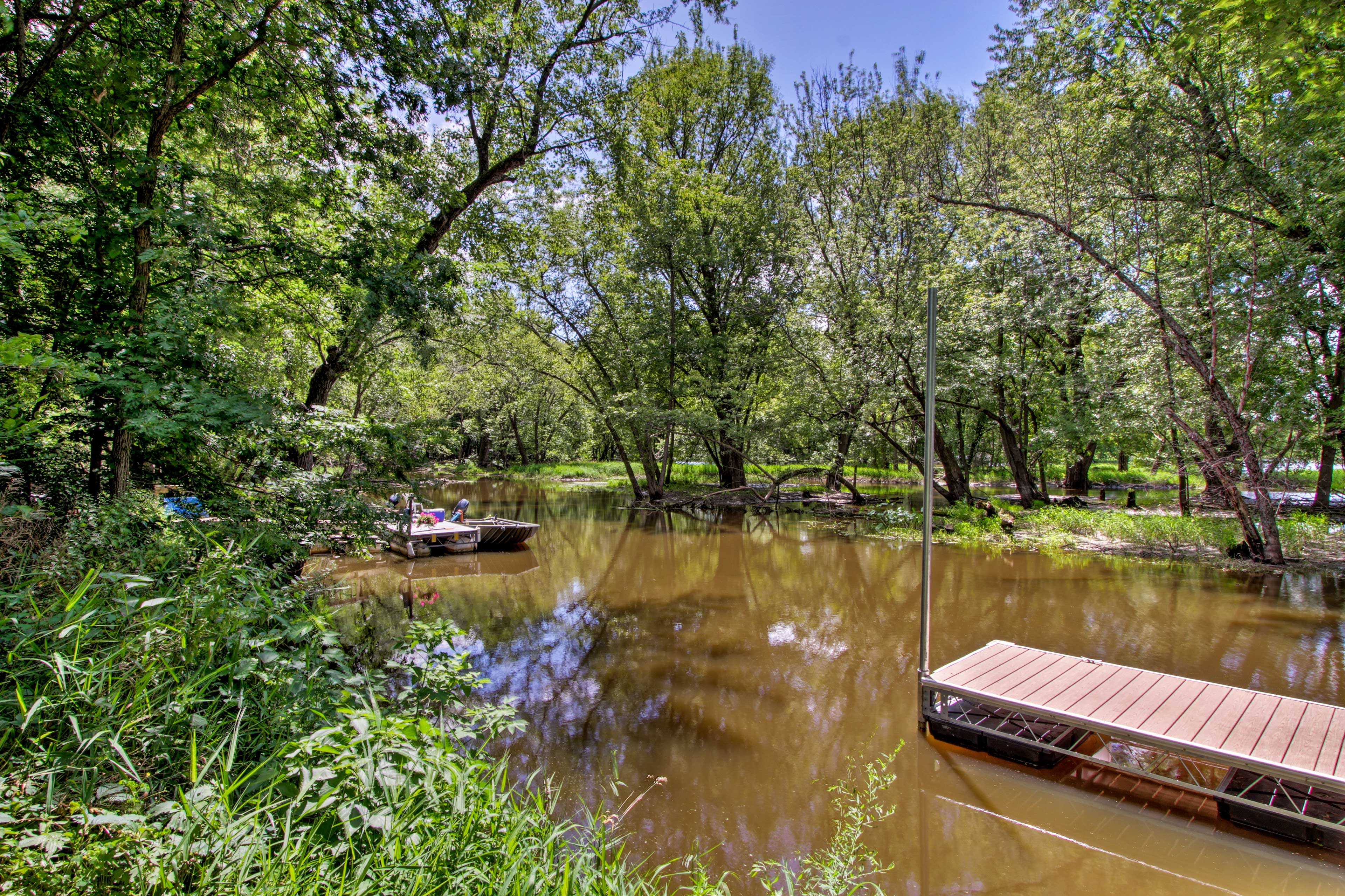 The river is sure to be the centerpiece of your stay!