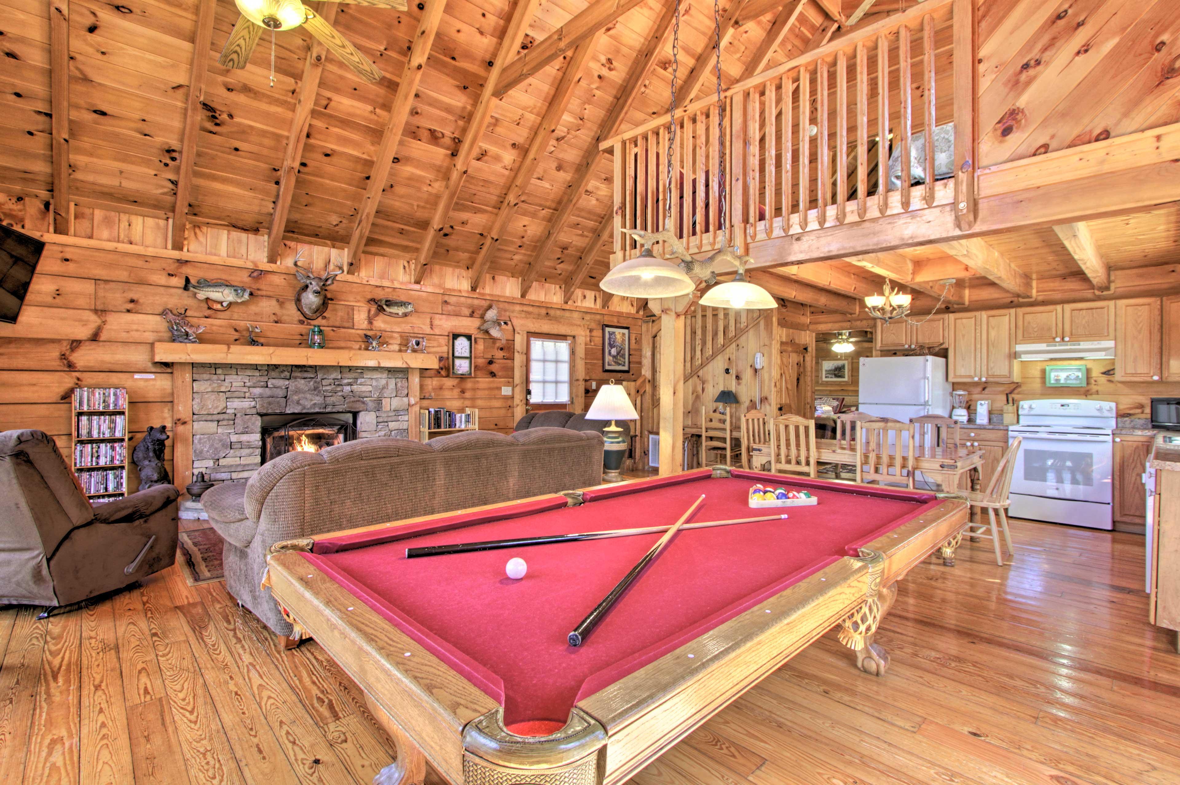 Sevierville Vacation Rental Cabin | 2BR + Loft | 2BA | 2,016 Sq Ft | 2 Stories