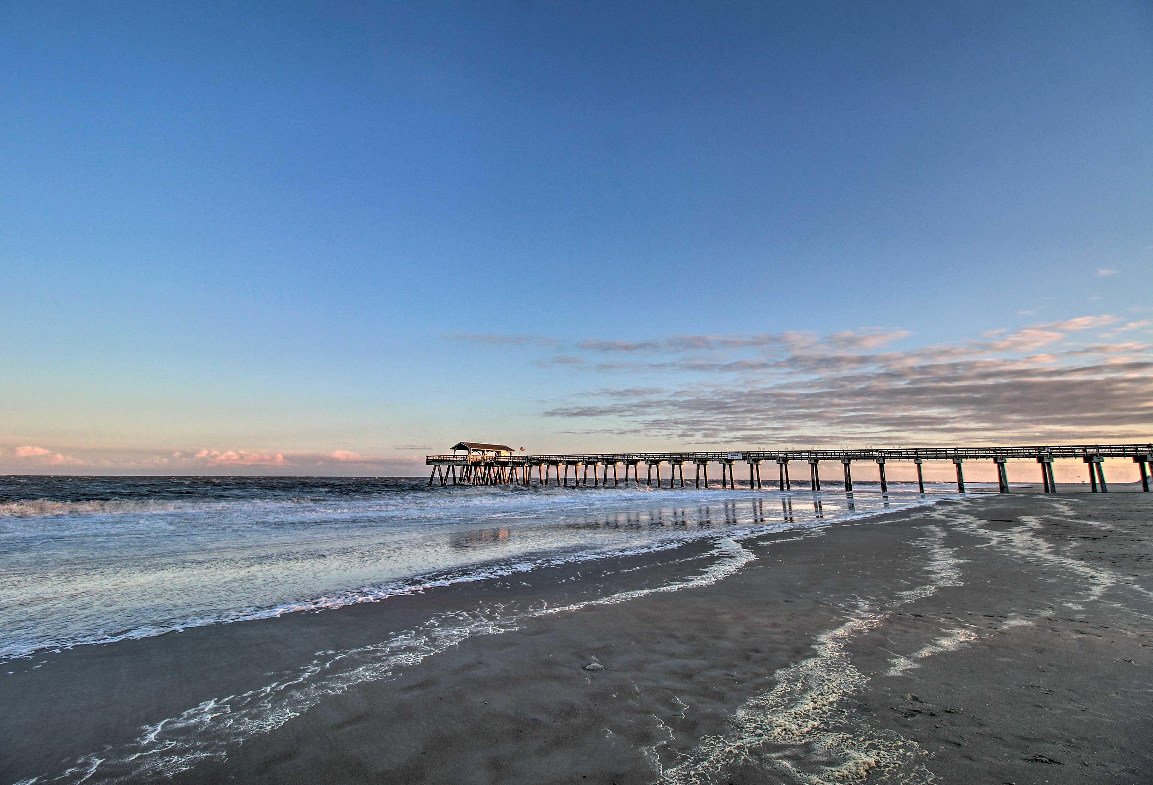 Watch stunning sunsets from the Pier!