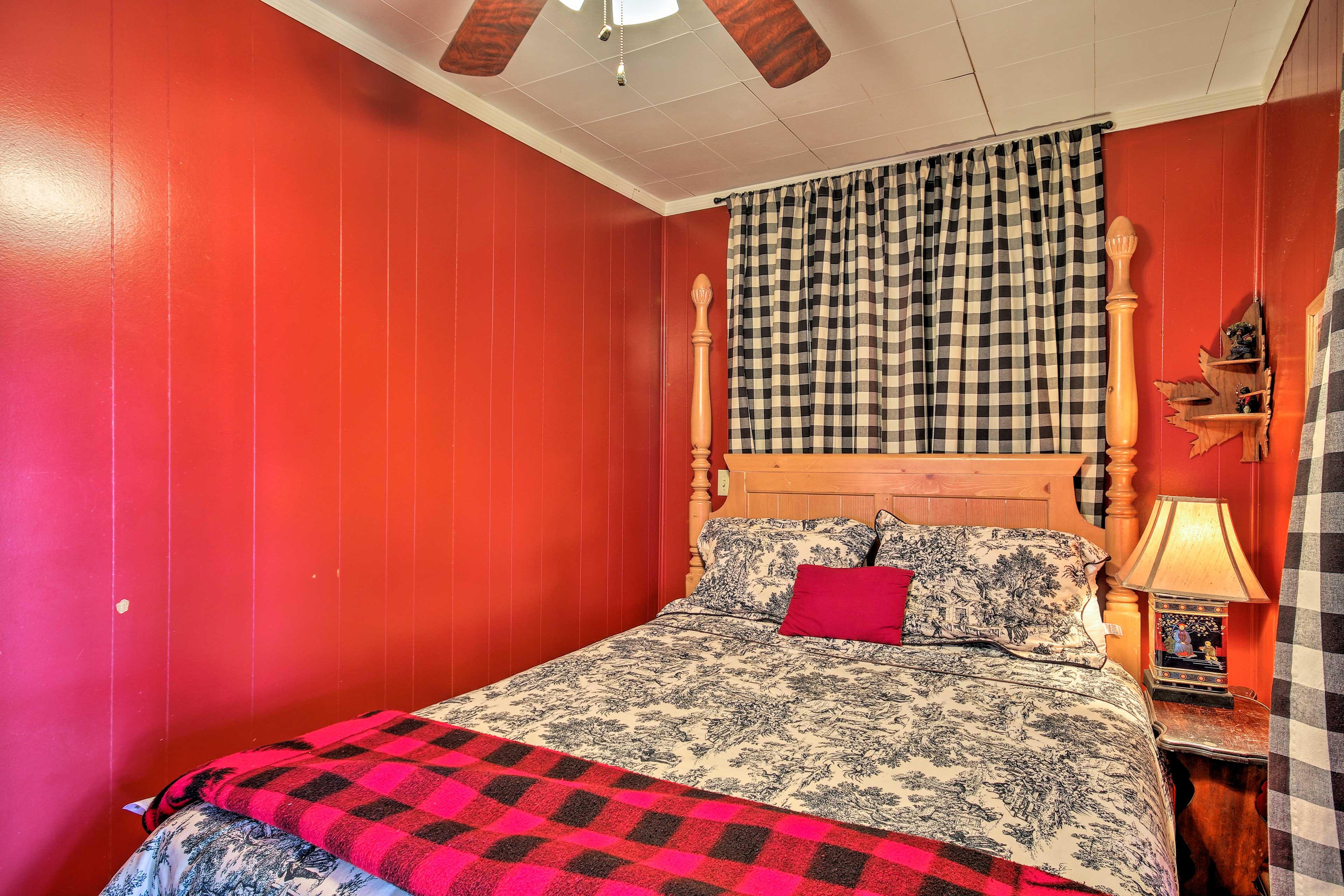 Have sweet dreams in this cozy bedroom.
