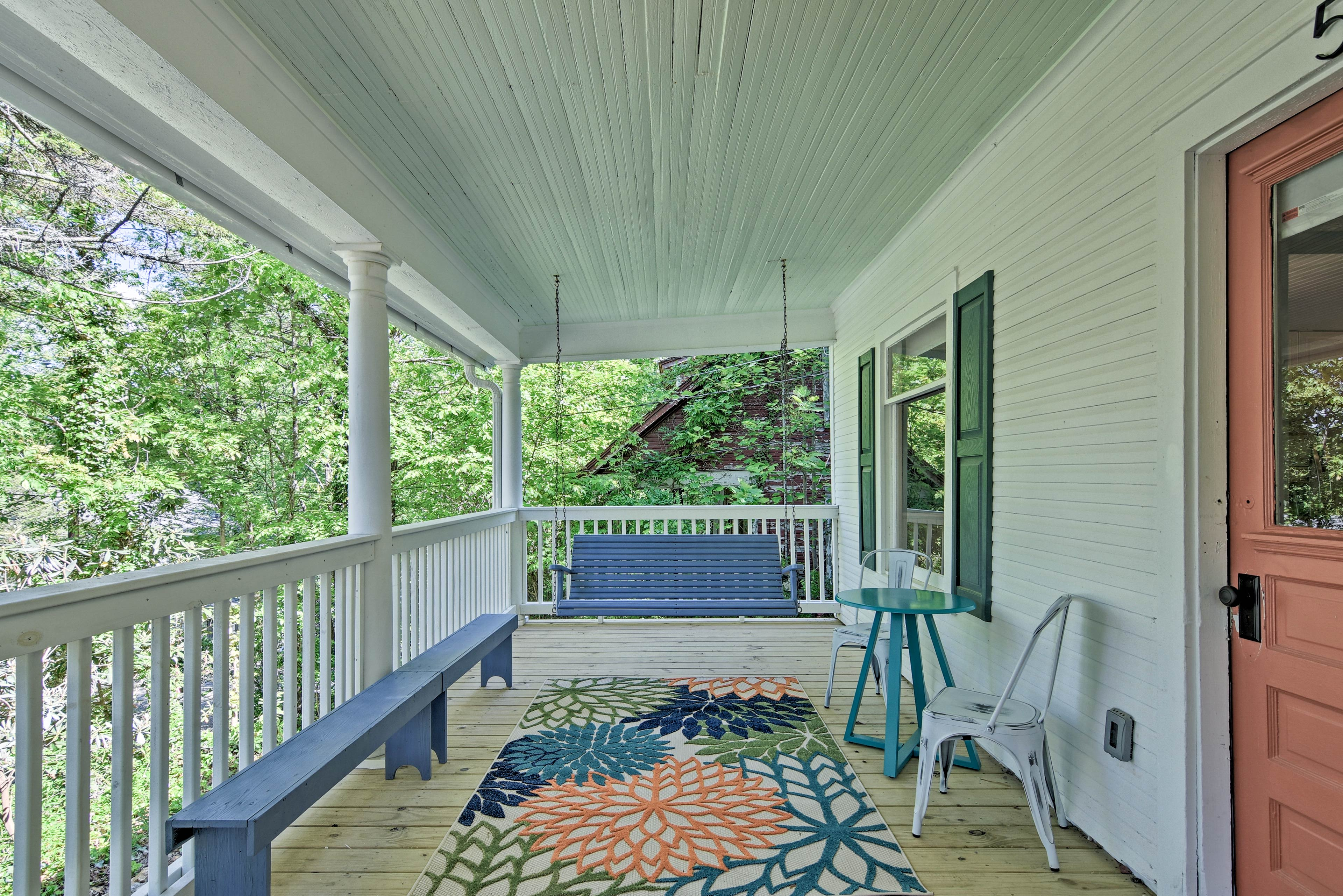 Sip coffee or tea as you read a book on the porch swing.