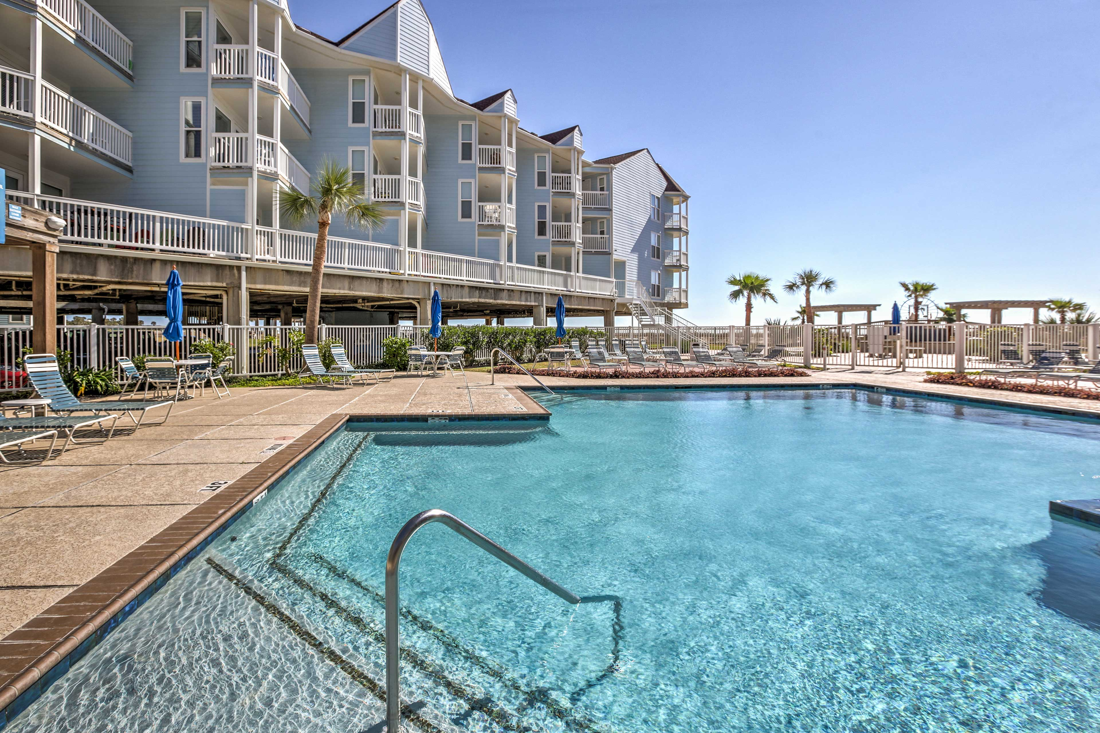 The beachfront location is only made better by the lavish community amenities!
