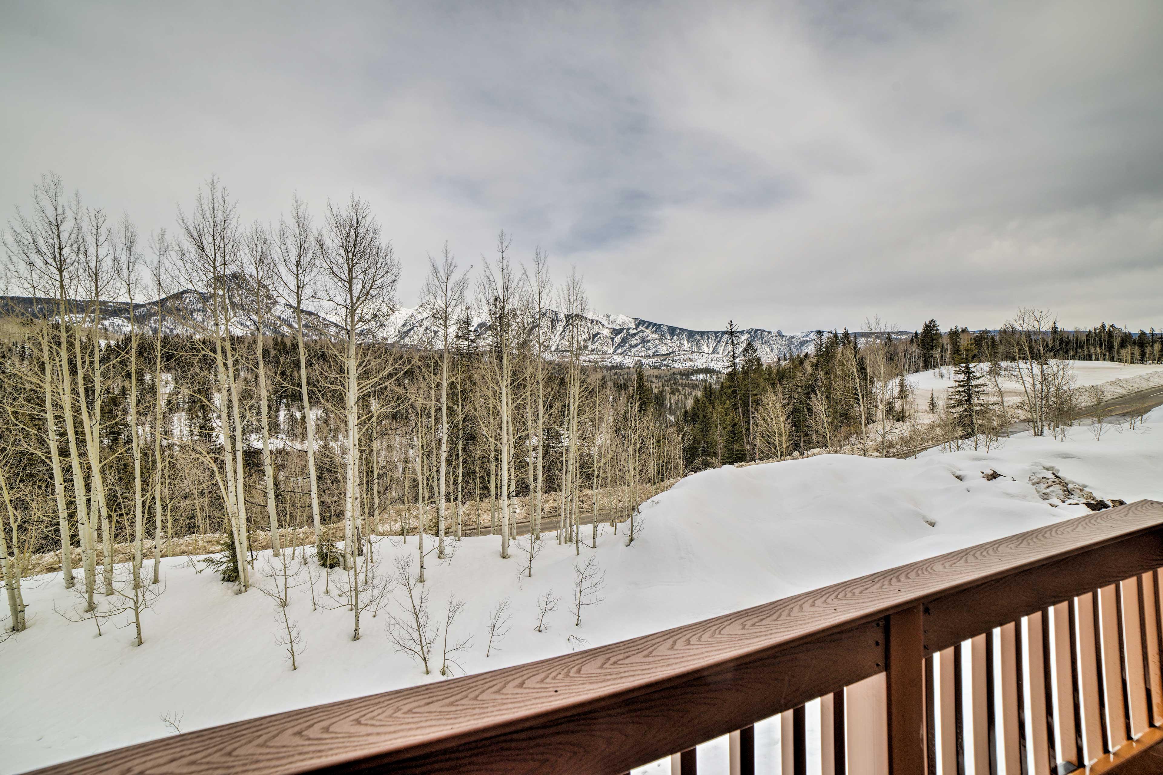 Private Deck | Mountain Views
