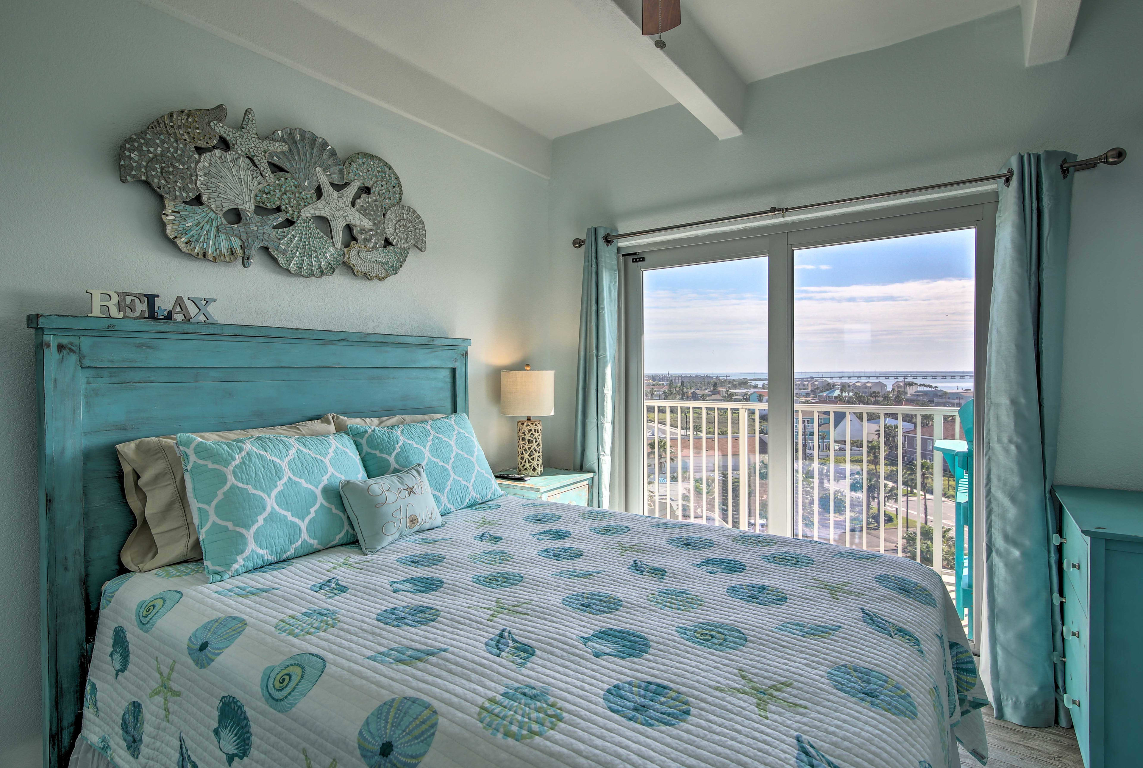 Bedroom 2 | Queen Bed | Linens Provided | Balcony Access