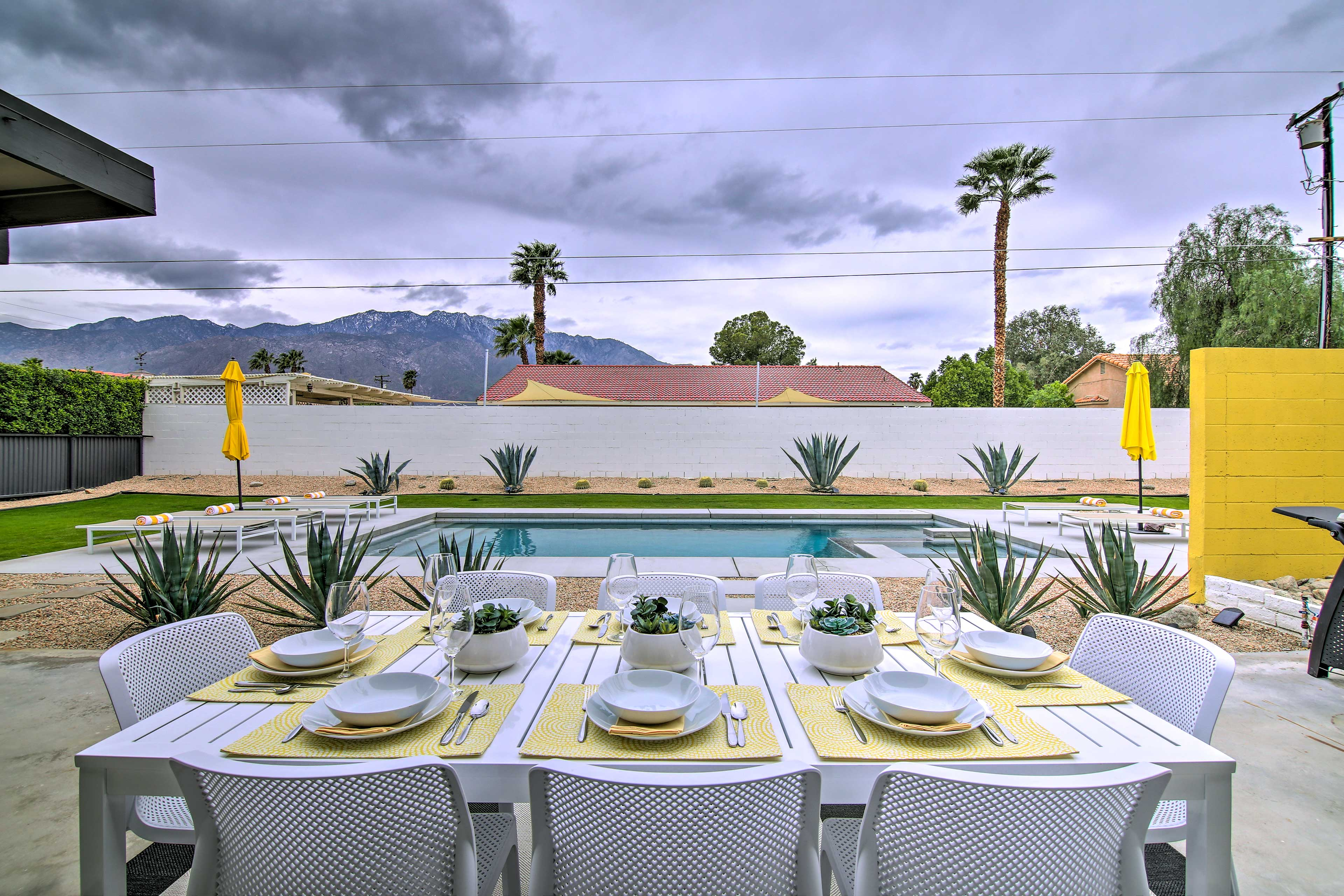 Experience Palm Springs in style at this beautiful vacation rental home.