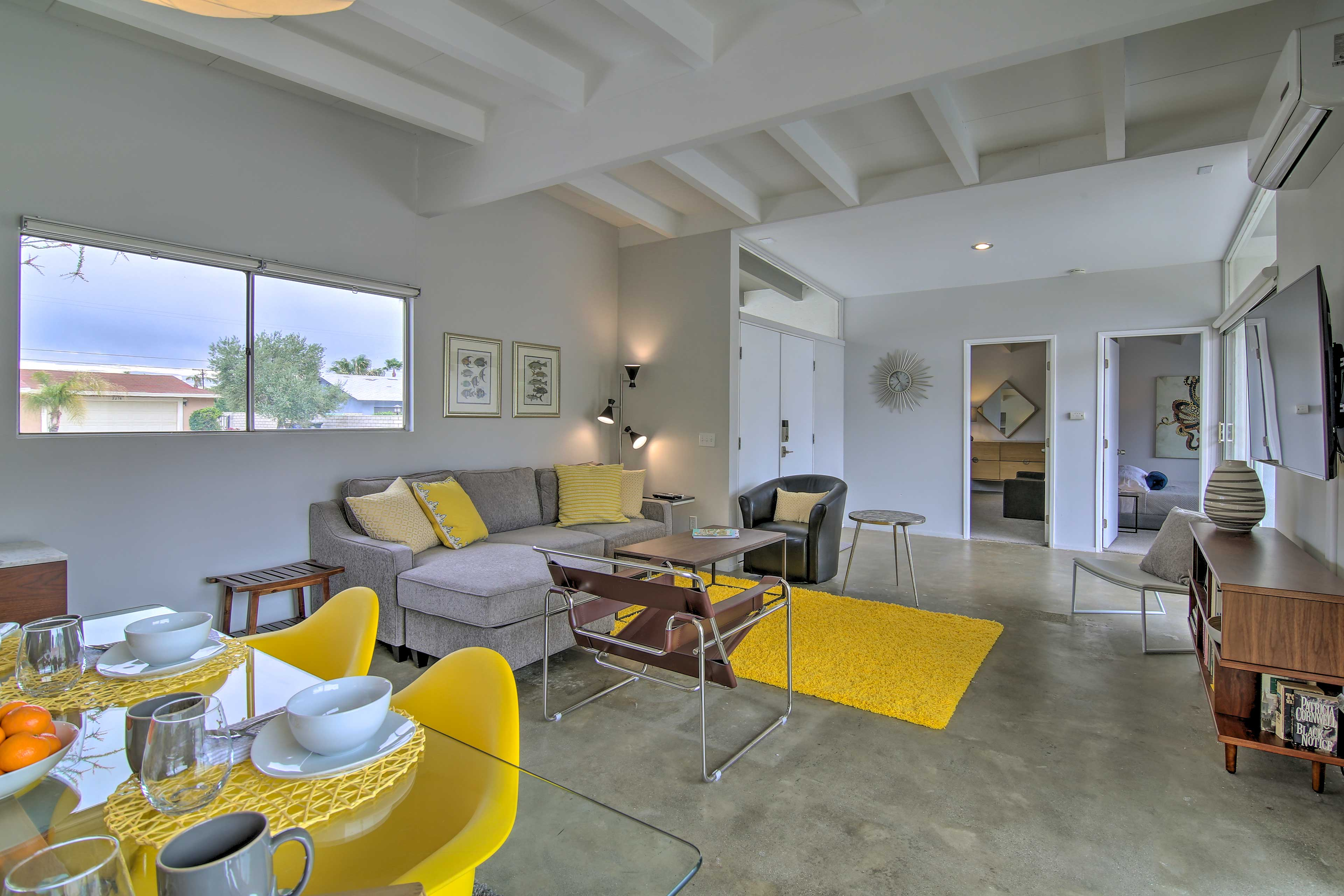 The spacious living area is the prefect space to convene as a family.