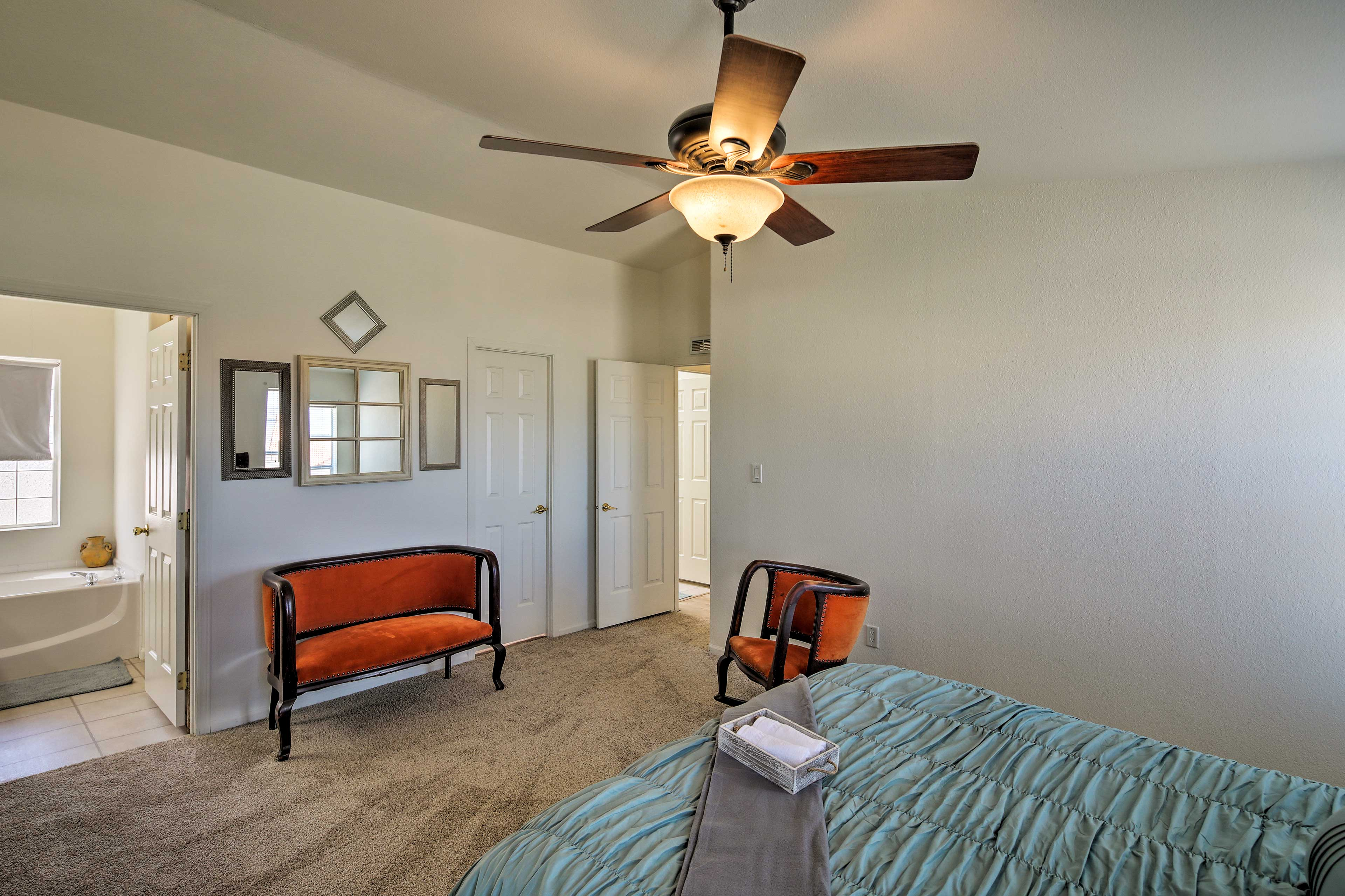 Primary Bedroom | Loveseat No Longer in This Room