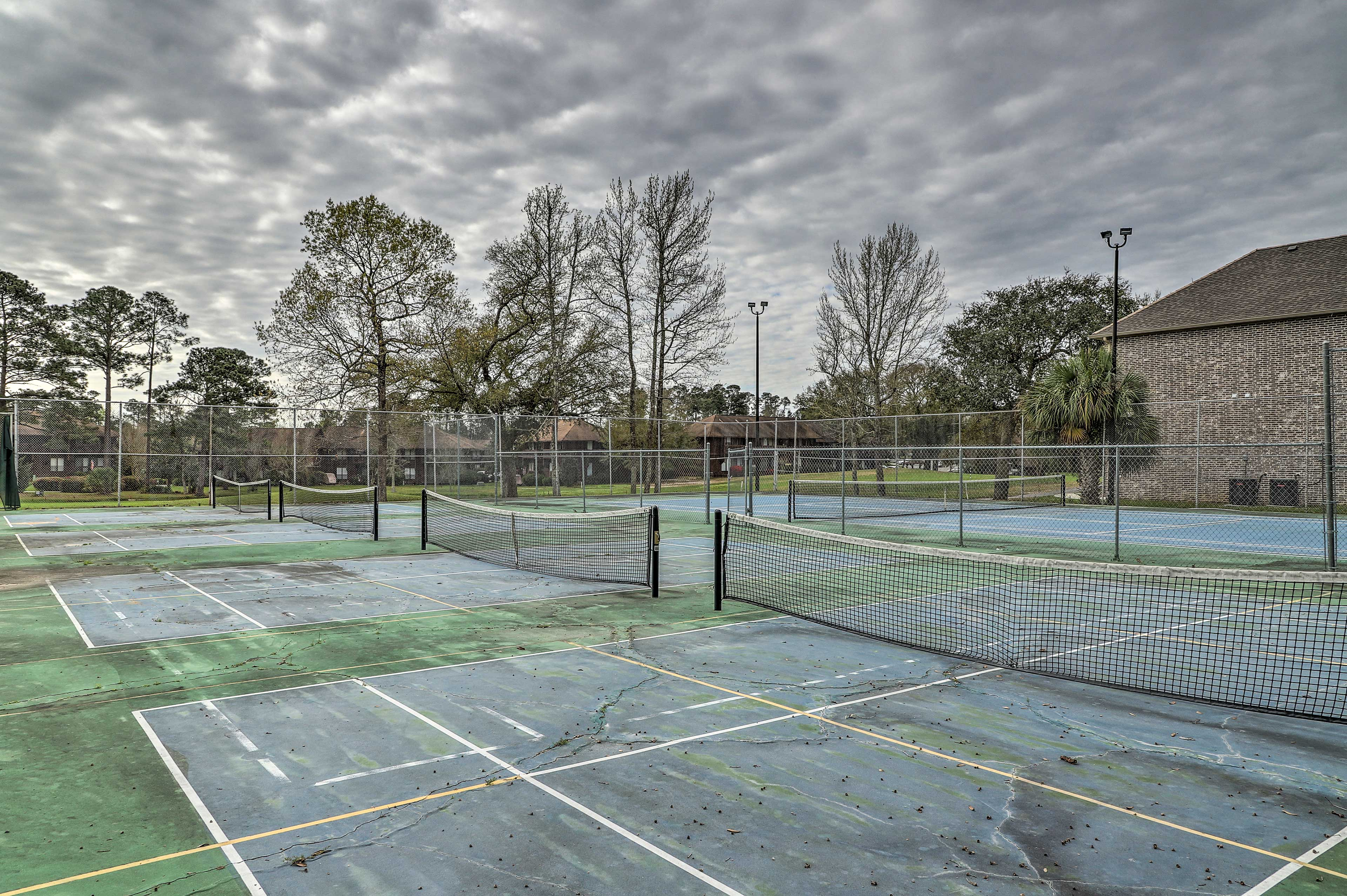 Play a round of tennis!