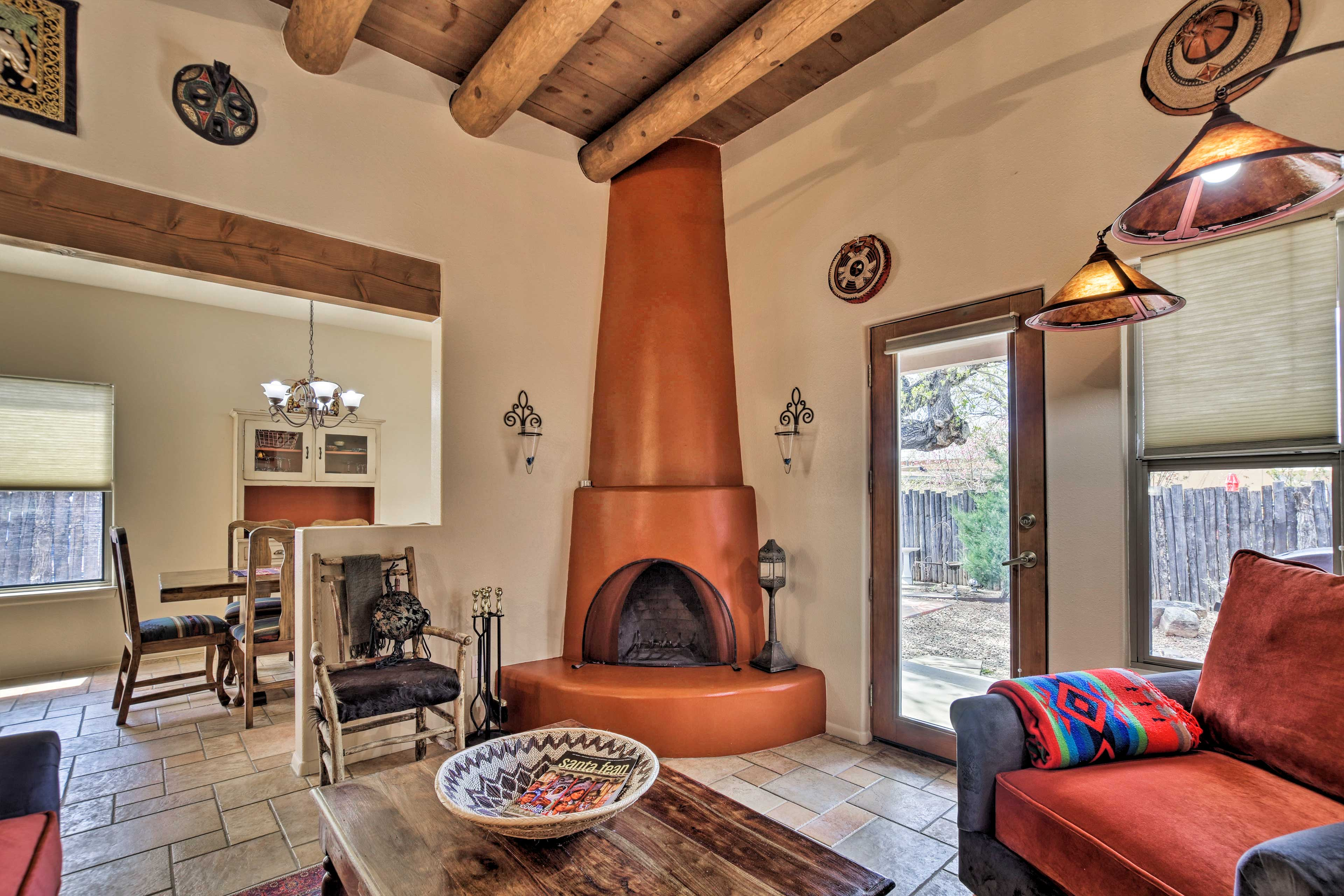You'll be treated to great amenities such as this wood-burning fireplace.