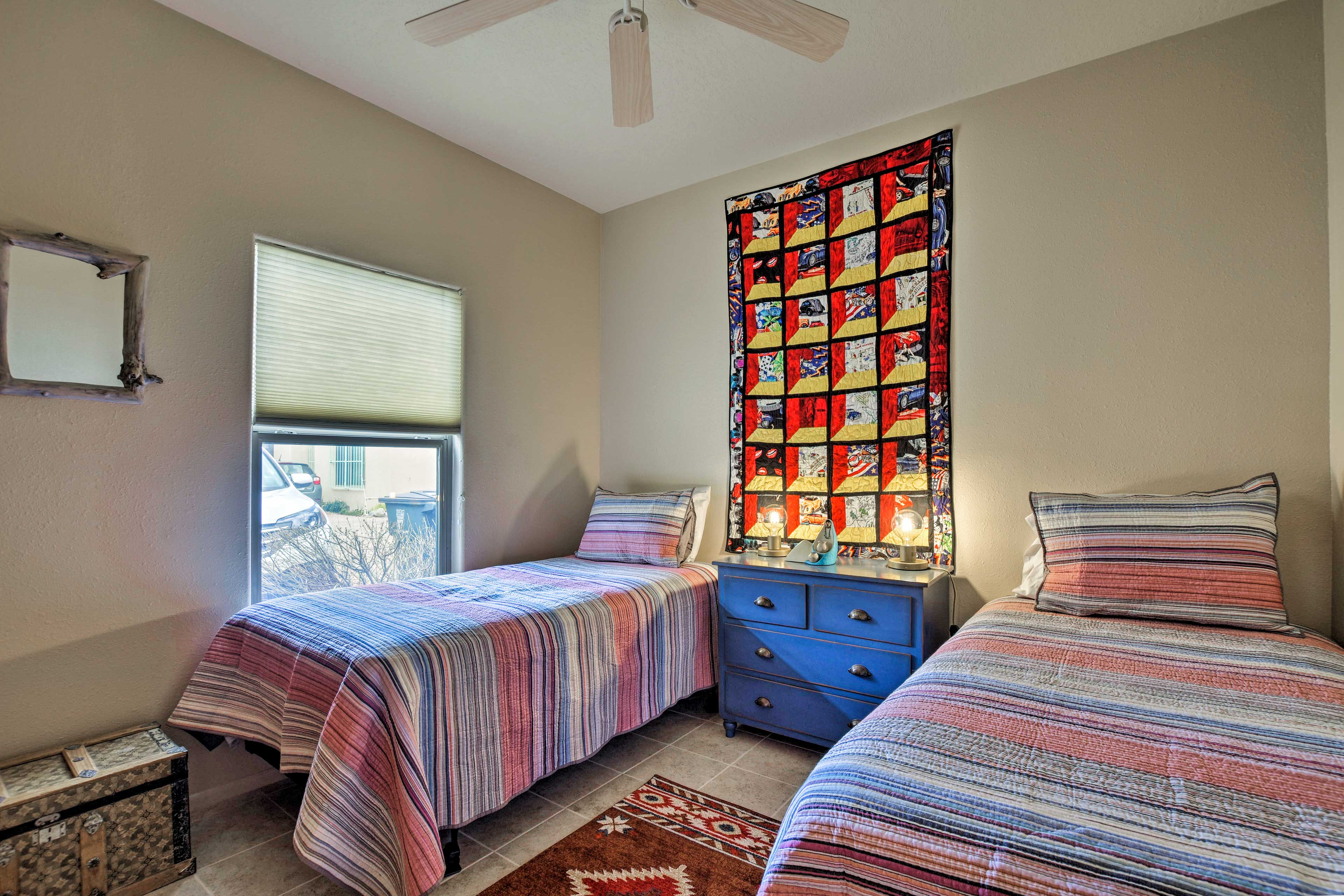 This room is perfect for sharing with 2 twin beds.