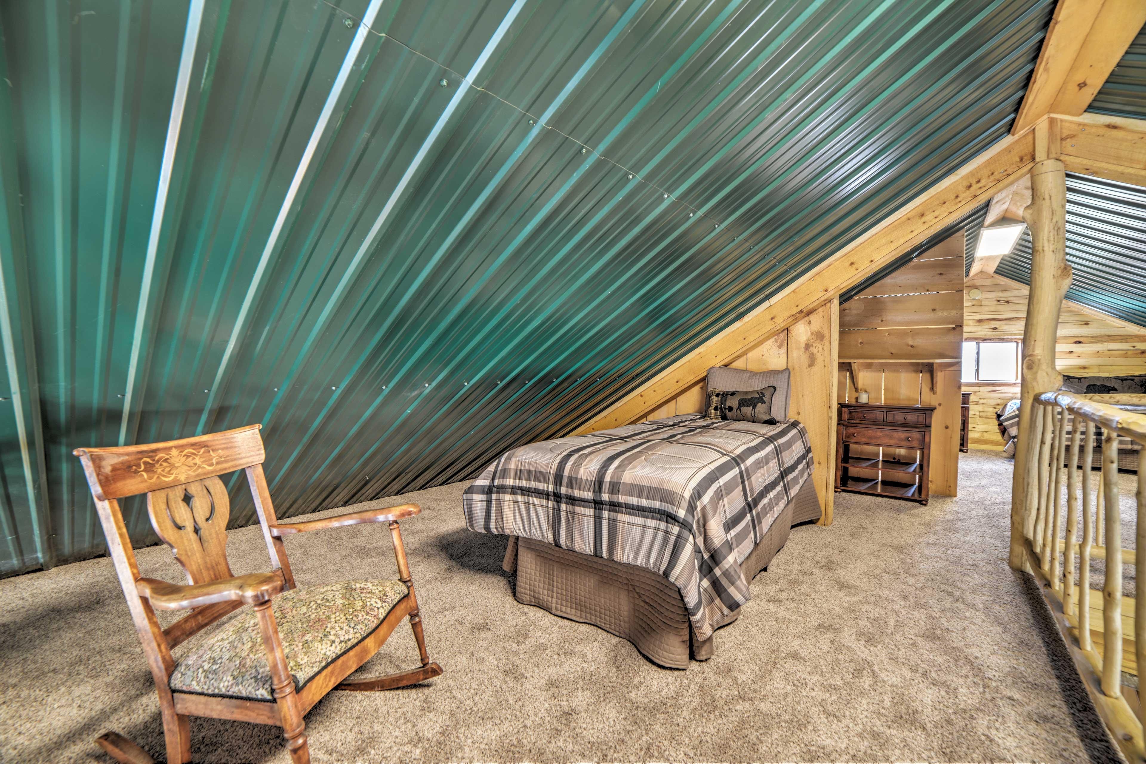 Sleeping Loft | 1 XL Twin Bed | Rocking Chair