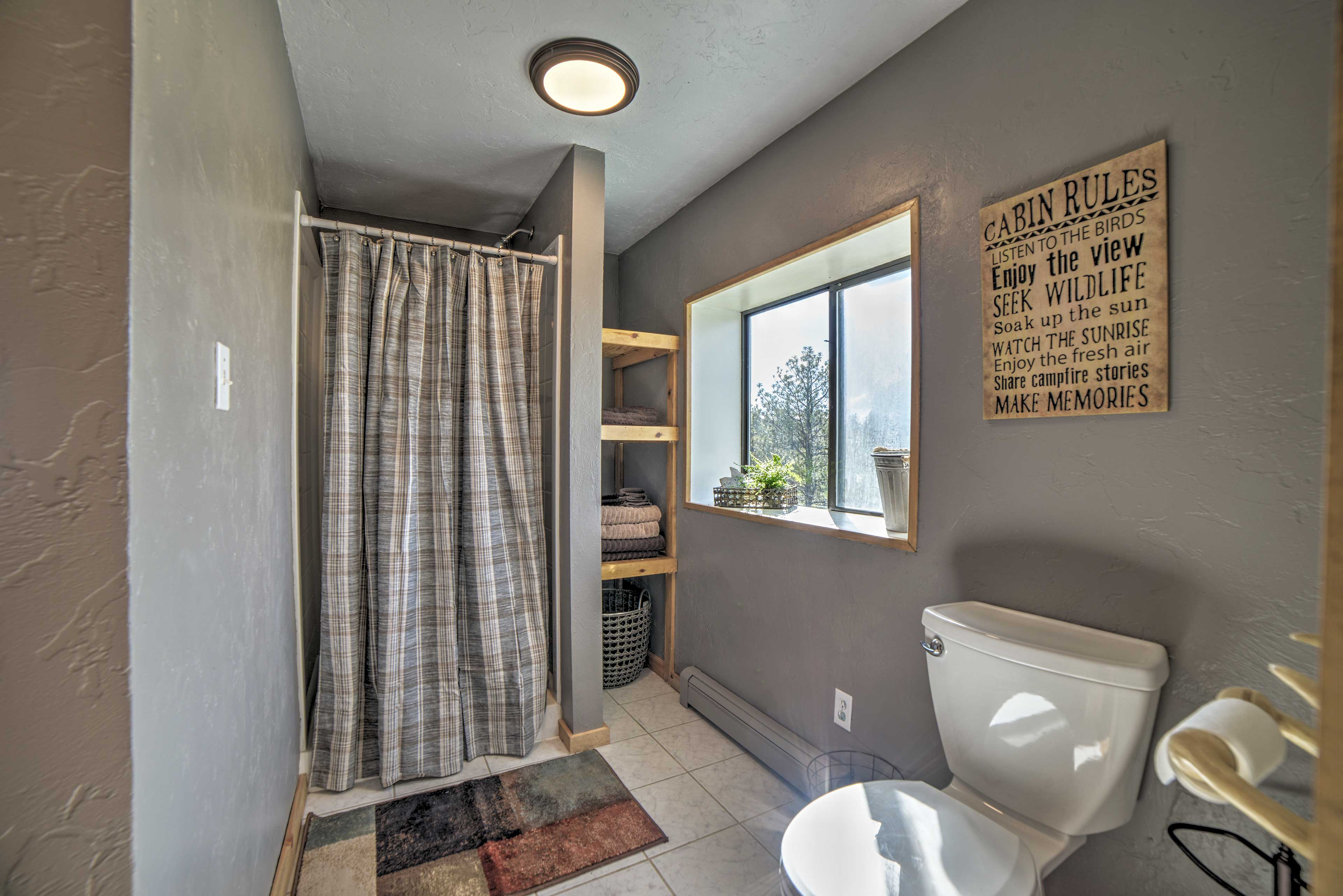 First Full Bathroom | Complimentary Toiletries | Towels Provided
