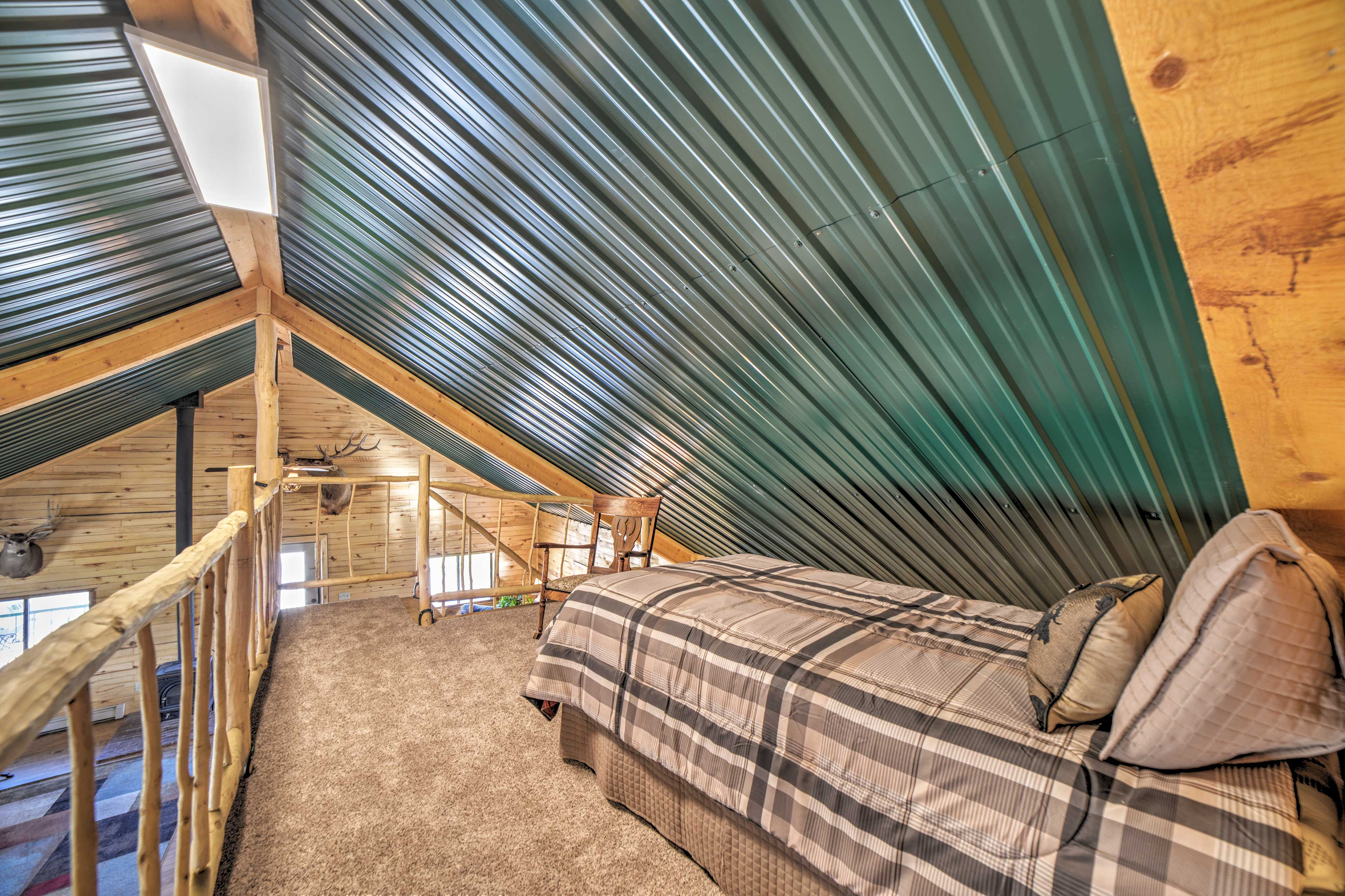 Sleeping Loft | Stairs to Access | Vaulted Ceiling