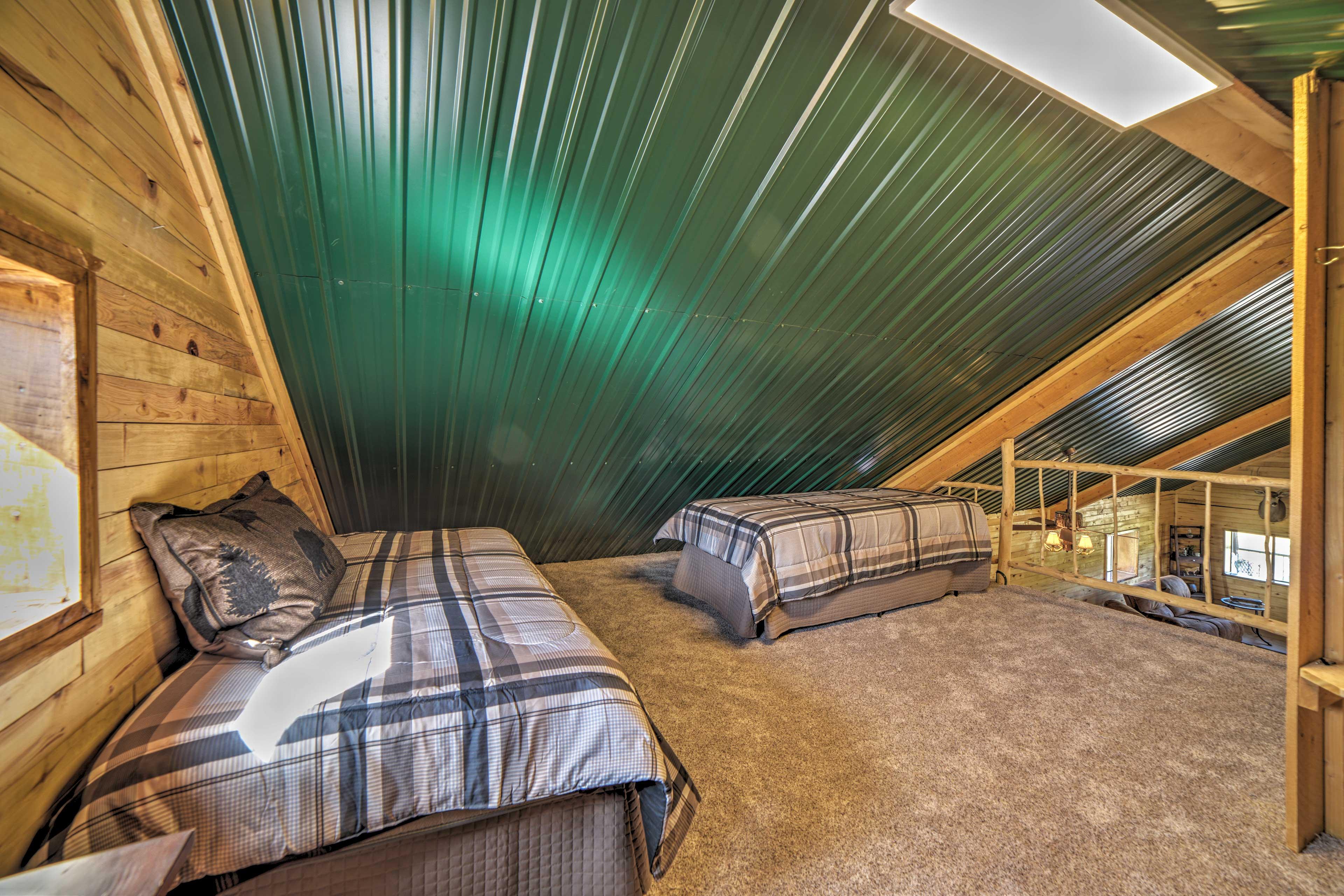 Sleeping Loft | 2 XL Twin Beds | Natural Sunlight | Living Room View