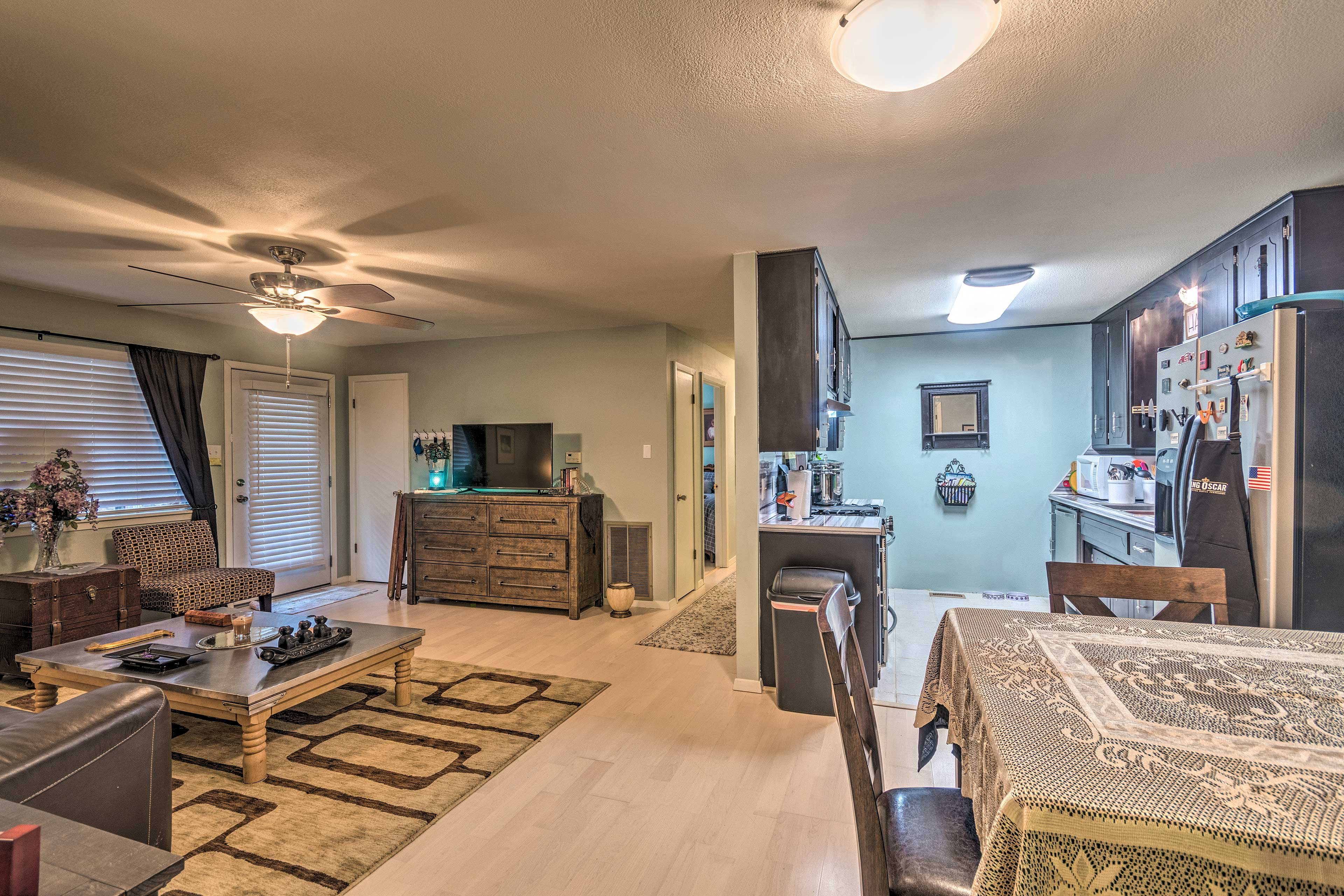 The open floor plan gives the home an inviting feel.