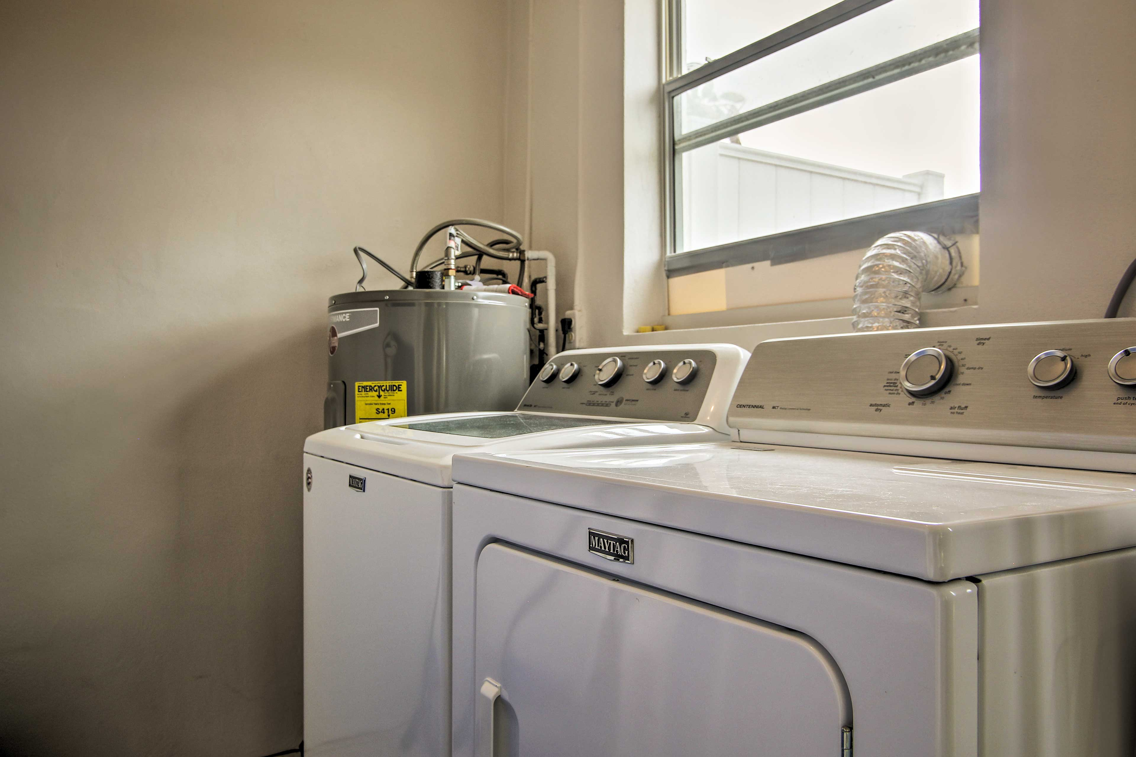 Keep you beach clothes clean with the in-unit laundry machines.