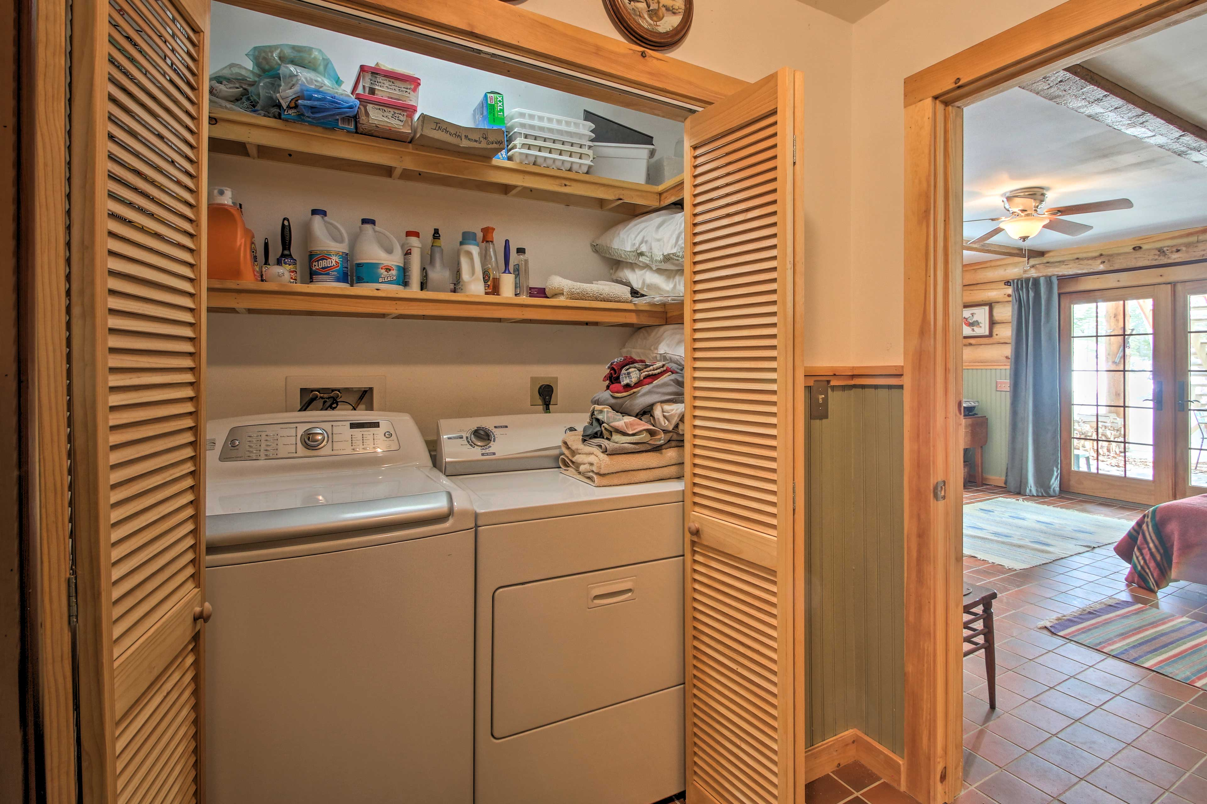 Pack light thanks to the in-unit laundry machines, plus laundry detergent!
