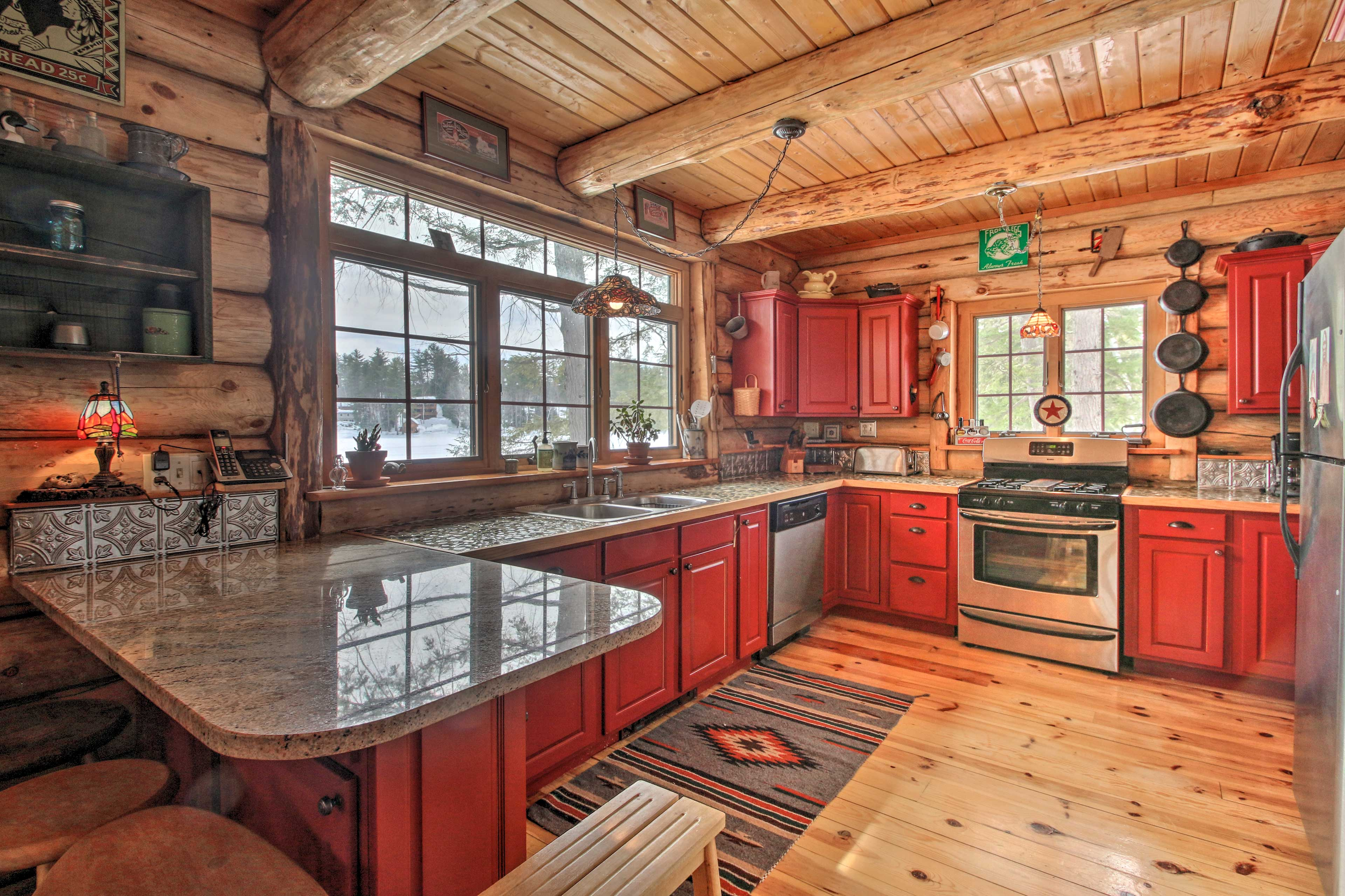 Inside, you'll find numerous amenities like this impressive kitchen!