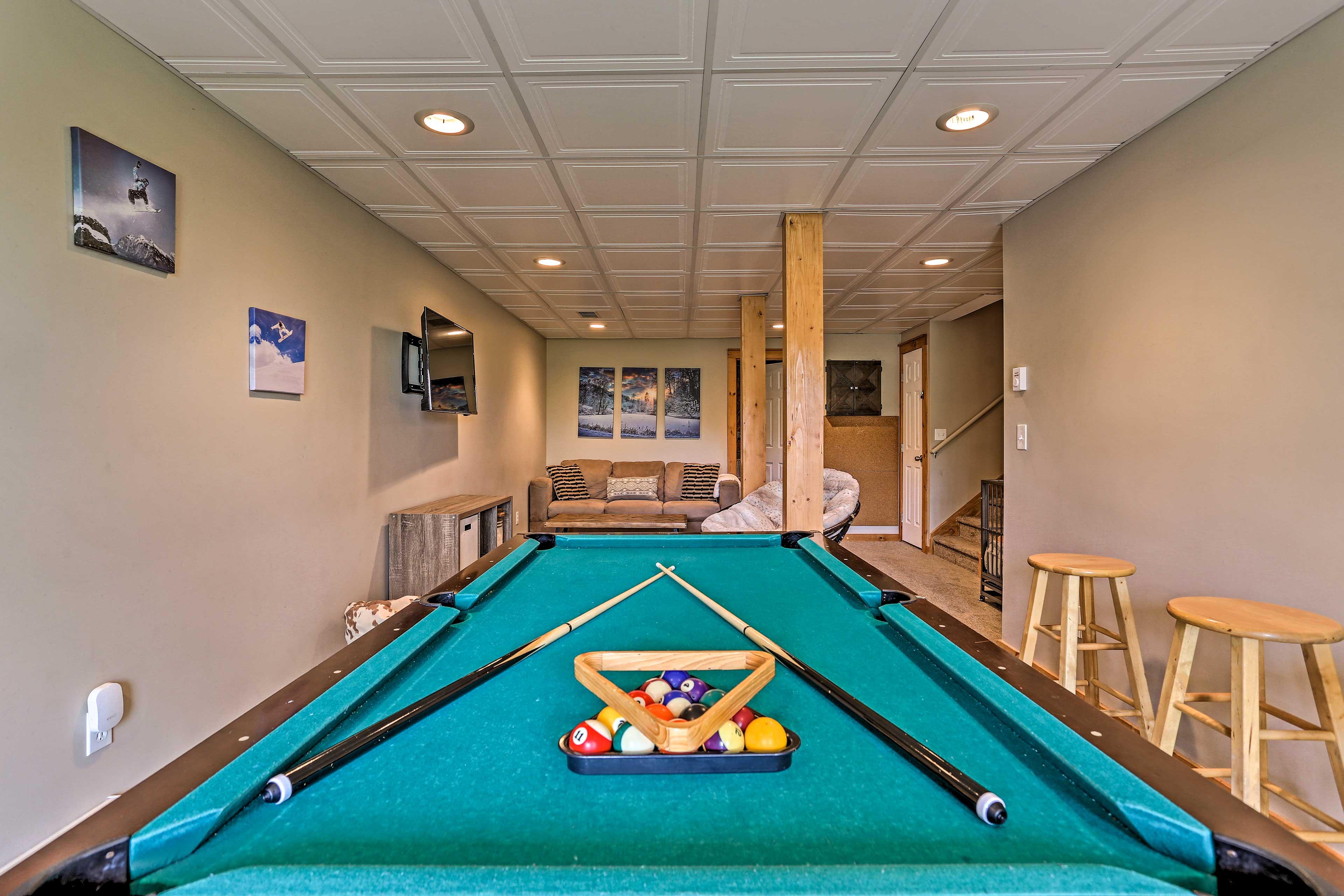 Game Room   Pool Table   Board Games   Dart Board