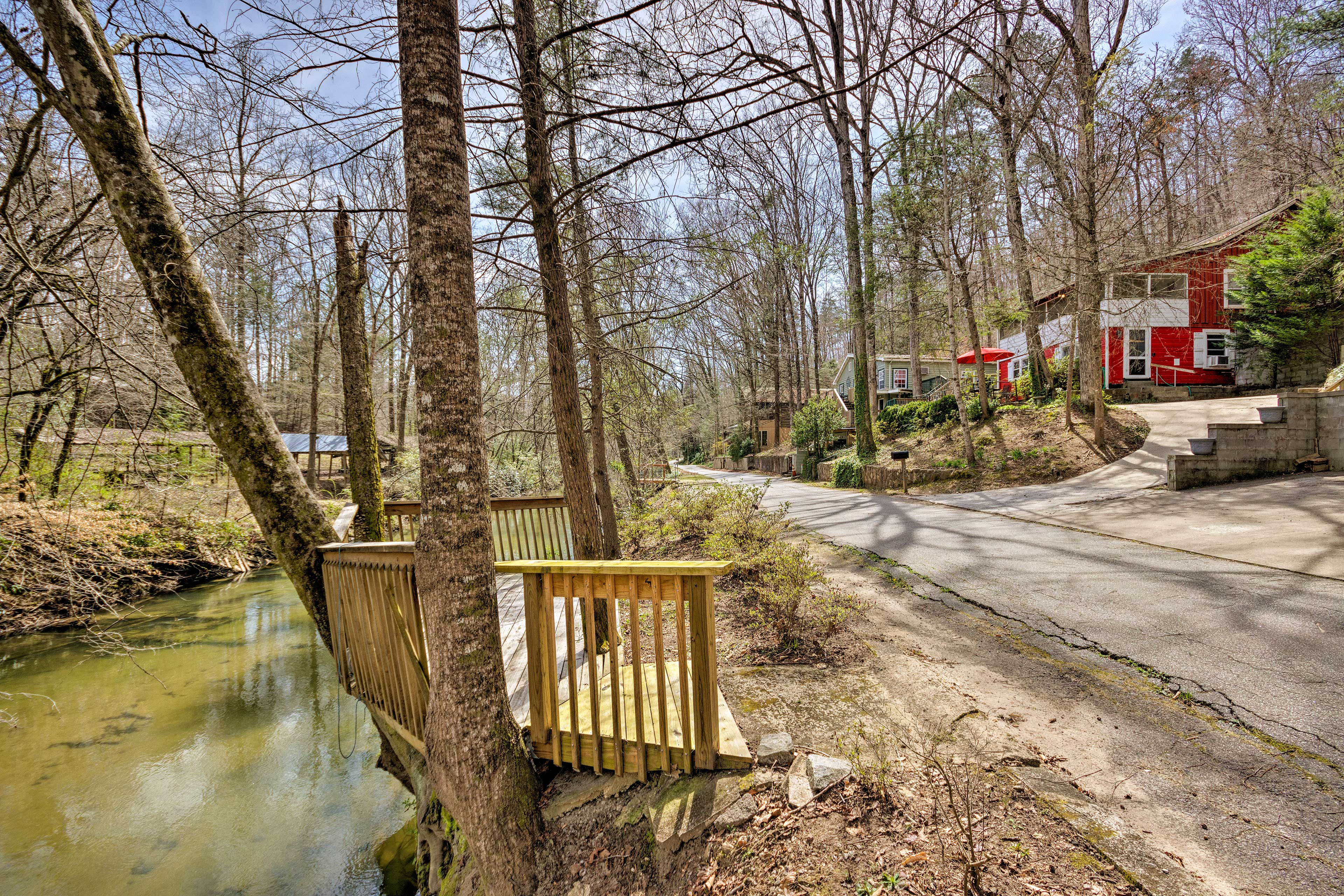 Just across the street, you can fish the South Saluda River!