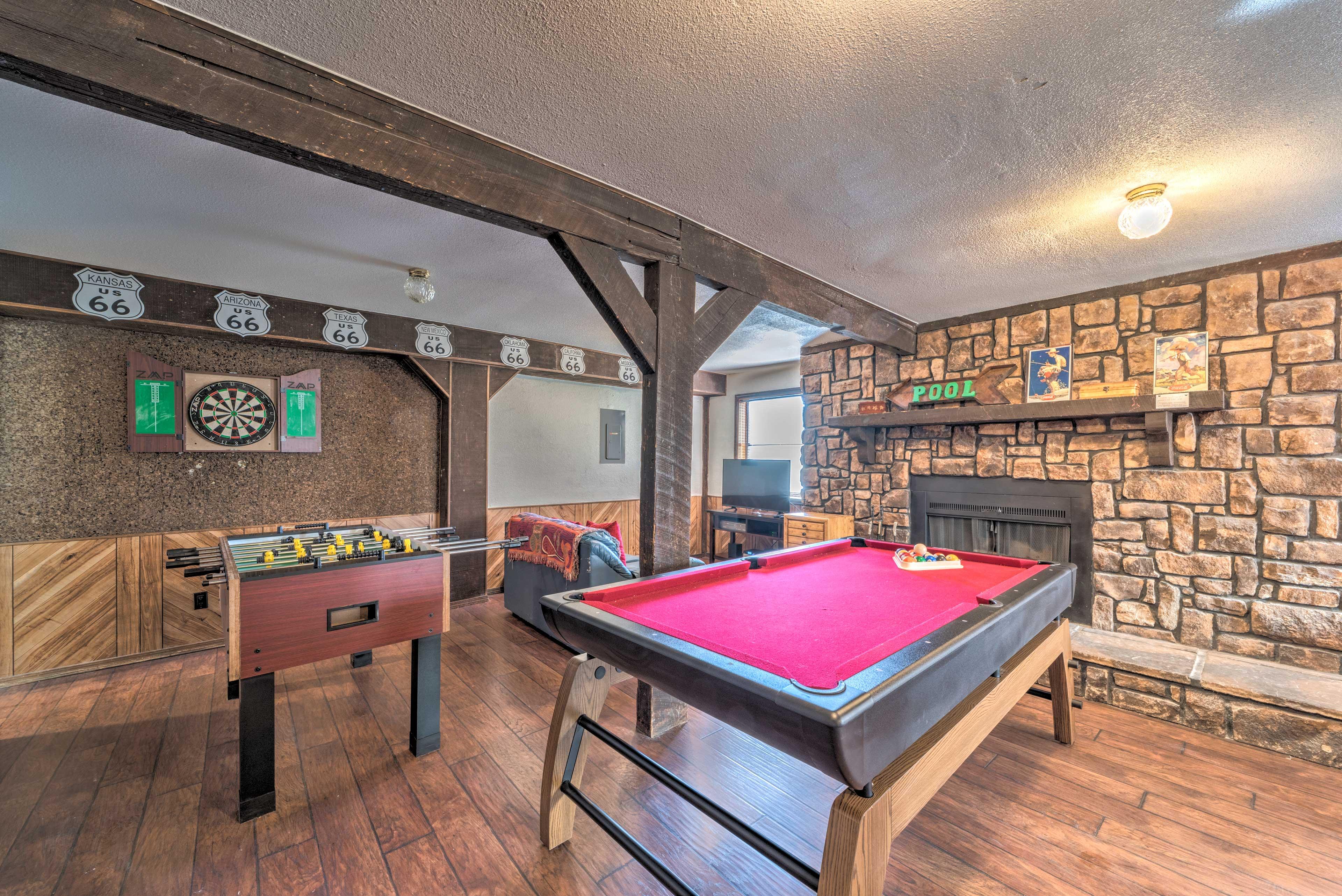 Game Room | Pool Table | Foosball Table | Dart Board