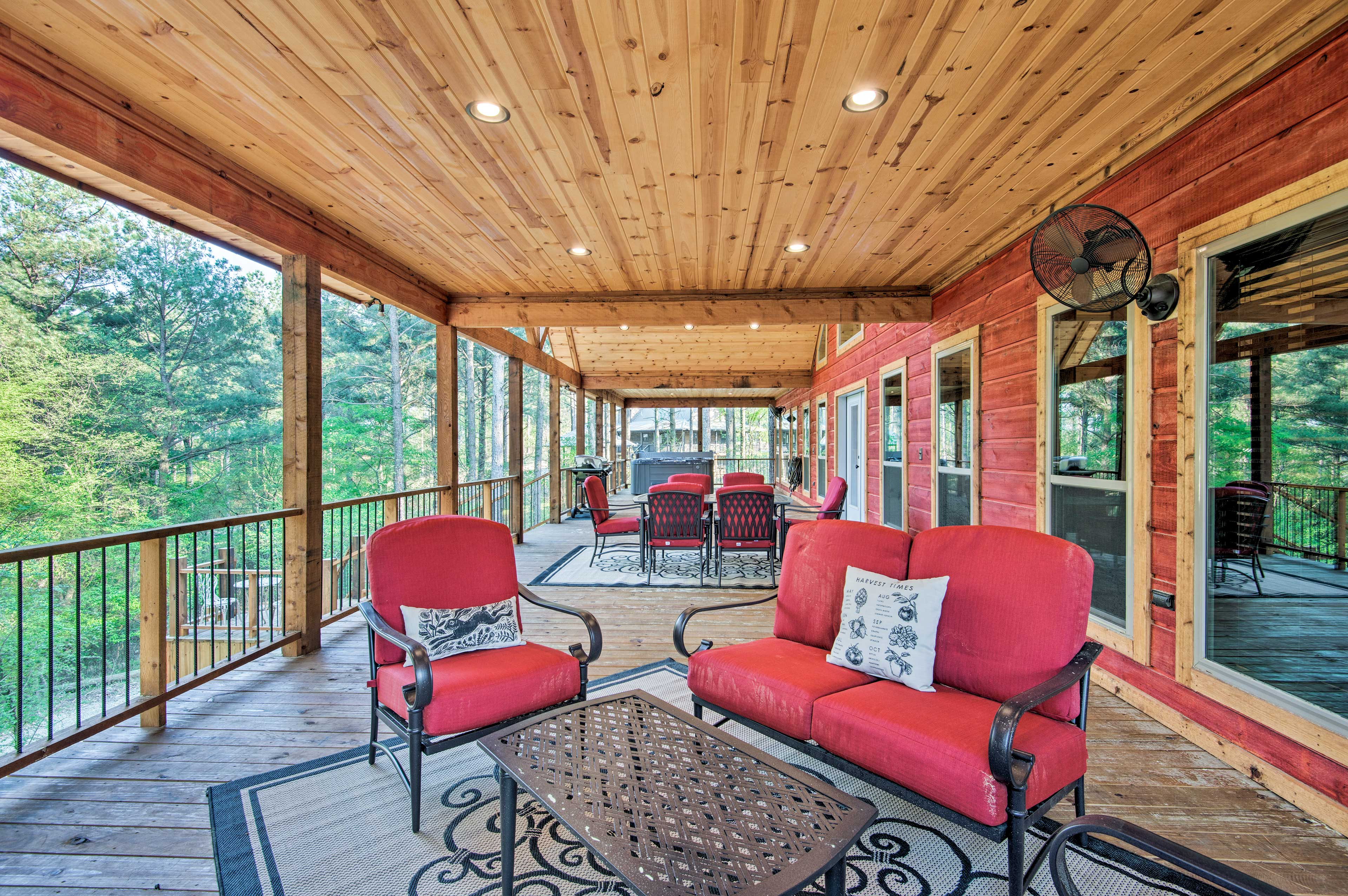 You'll be delighted to lounge on the wraparound deck after outdoor activities.