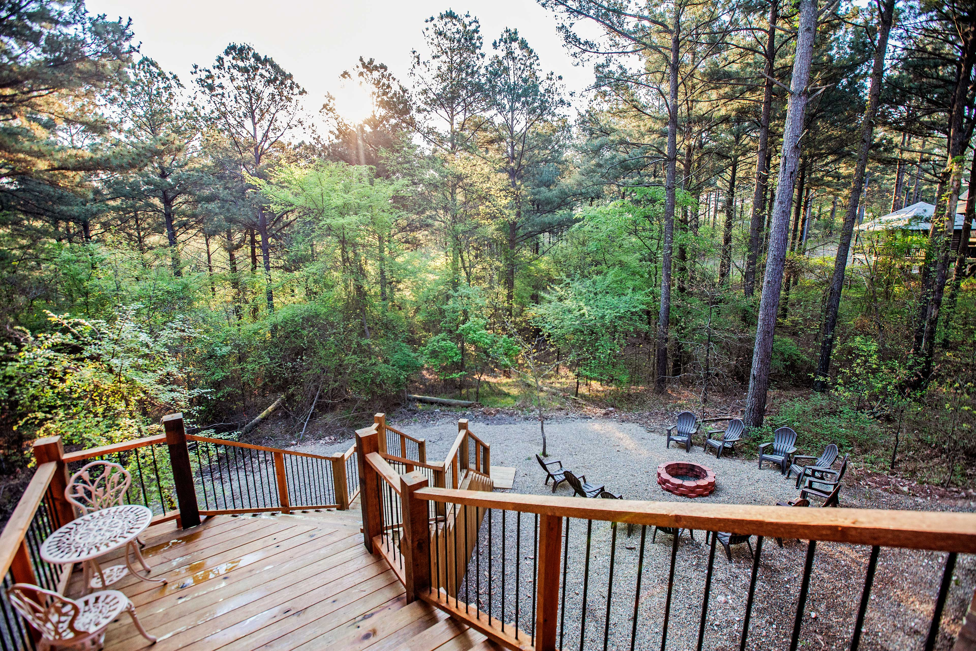 The home sits on a beautiful & secluded 1-acre lot.