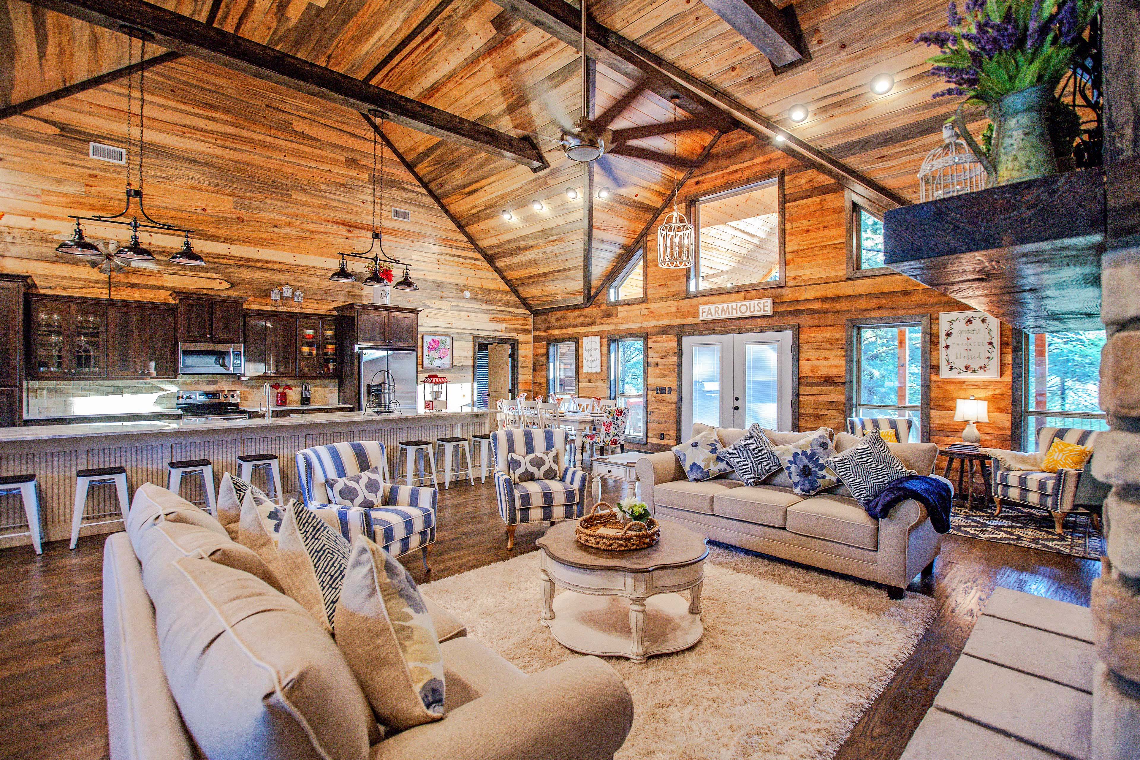 With 2,600 square feet of pristine space, this home can easily accommodate 12.